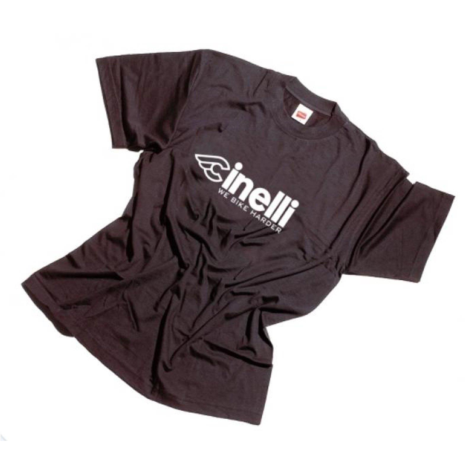 cinelli t shirt schwarz we bike harder original merchandise shirt top. Black Bedroom Furniture Sets. Home Design Ideas