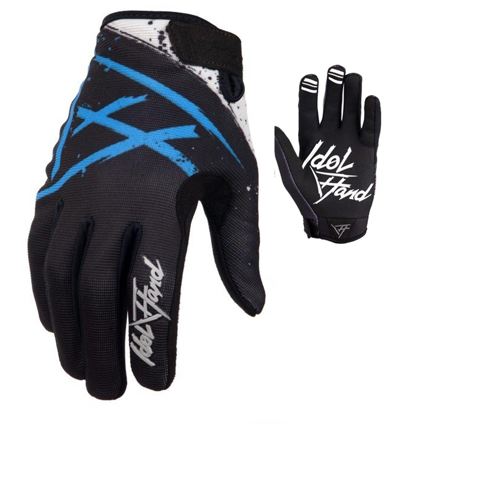 Idol Hand MX MTB Handschuhe Persuit Holeshot Weiß Motocross Enduro Offroad BMX
