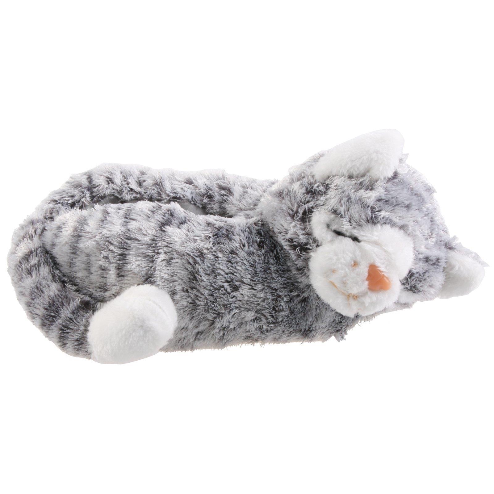 best sneakers 6fde4 efb81 Details zu Katze Tier Hausschuhe Pantoffel Schlappen Kuscheltier Plüsch  Damen Kinder 30-41