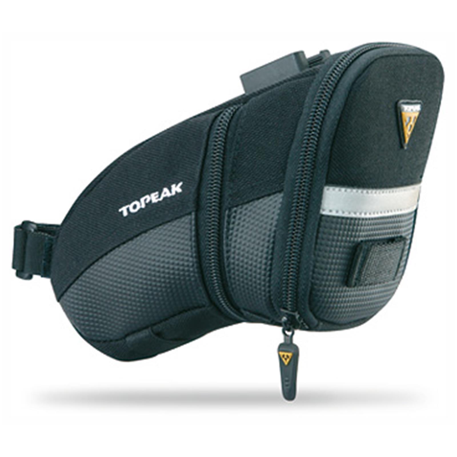 topeak aero wedge pack satteltasche alle gr en halter fahrrad reifen tasche ebay. Black Bedroom Furniture Sets. Home Design Ideas