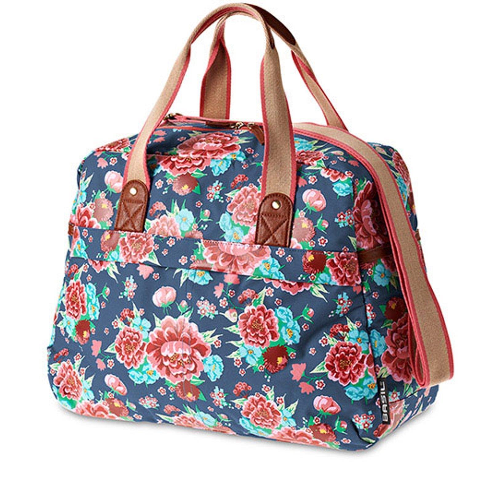 basil bloom handtasche fahrrad blumen motiv einkaufstasche umh ngetasche 18 l ebay. Black Bedroom Furniture Sets. Home Design Ideas