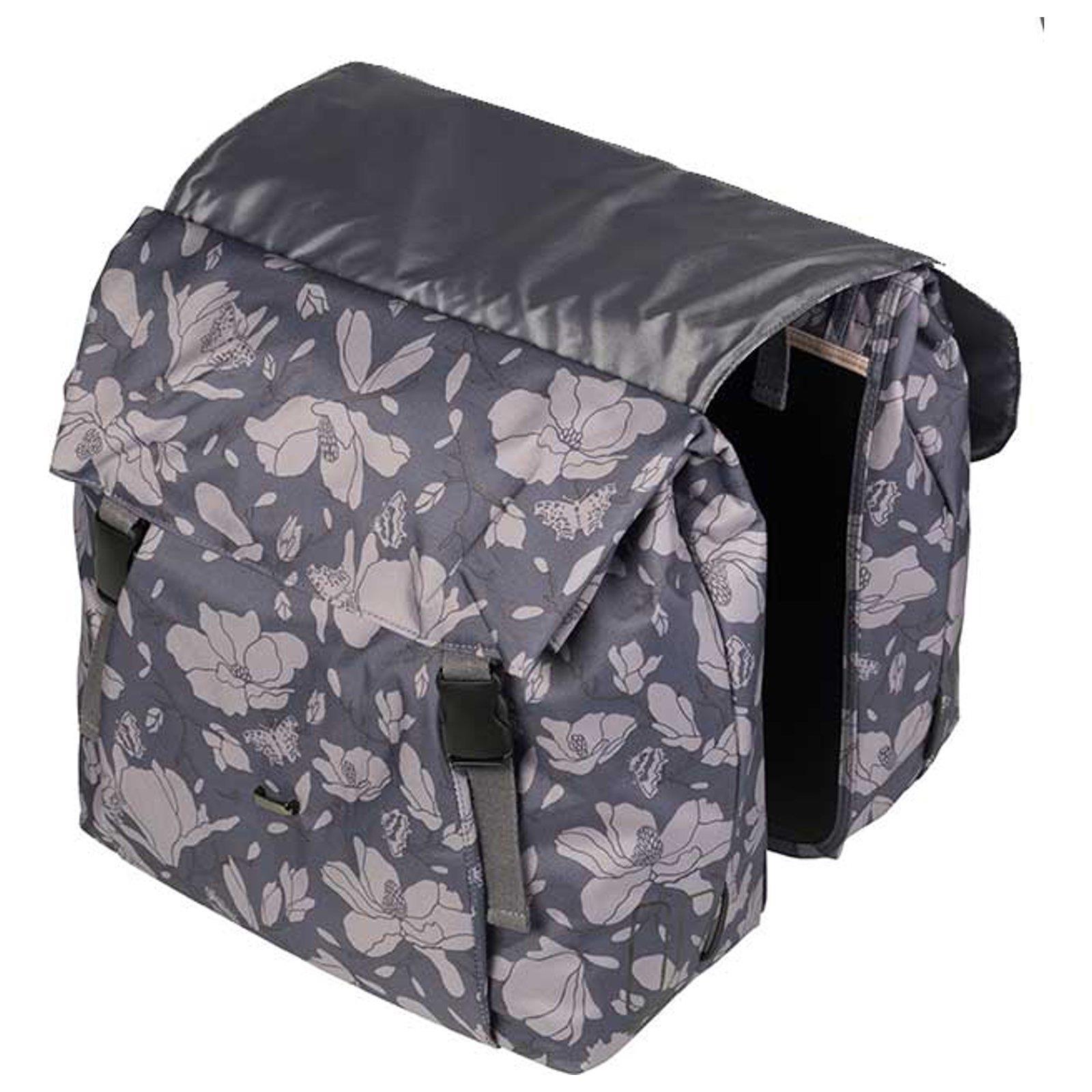 basil magnolia doppel packtasche 35 l fahrrad damen gep cktr ger tasche blumen ebay. Black Bedroom Furniture Sets. Home Design Ideas