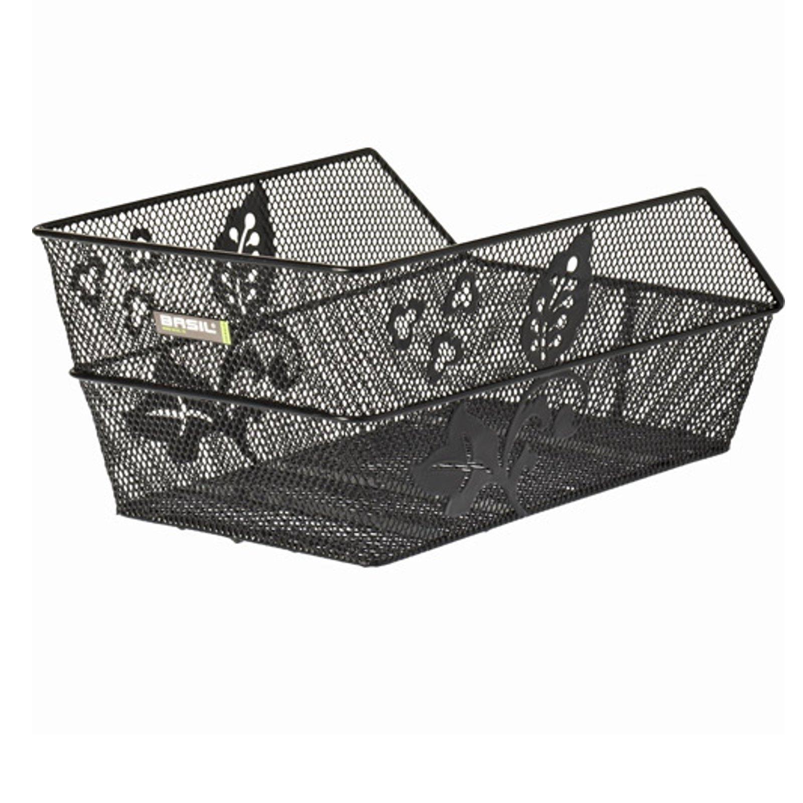 basil taschenkorb cento flower fahrradkorb schultaschen korb kinder fahrrad rad ebay. Black Bedroom Furniture Sets. Home Design Ideas
