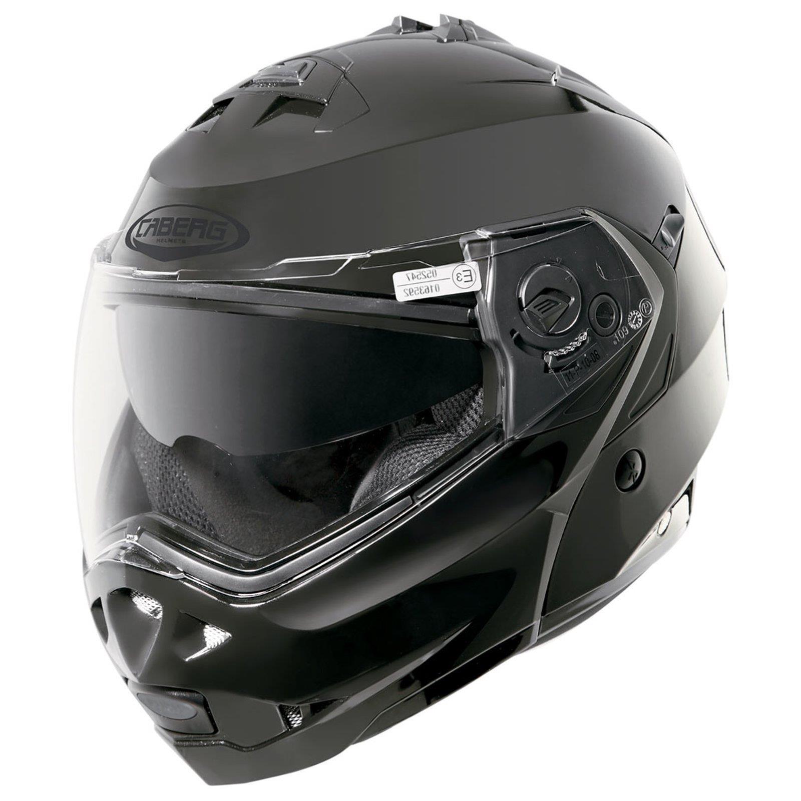 Caberg-Klapp-Helm-Duke-II-2-Smart-Schwarz-Motorrad-Sonnenblende-Pinlock-Jet Indexbild 4