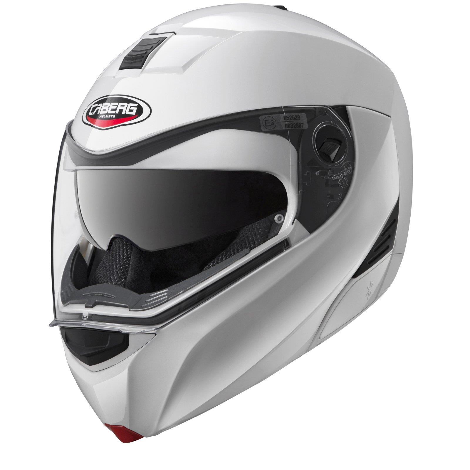 Caberg-Klapphelm-Modus-M-Weiss-Metallic-Motorrad-Helm-Motorradhelm-Integral-Jet