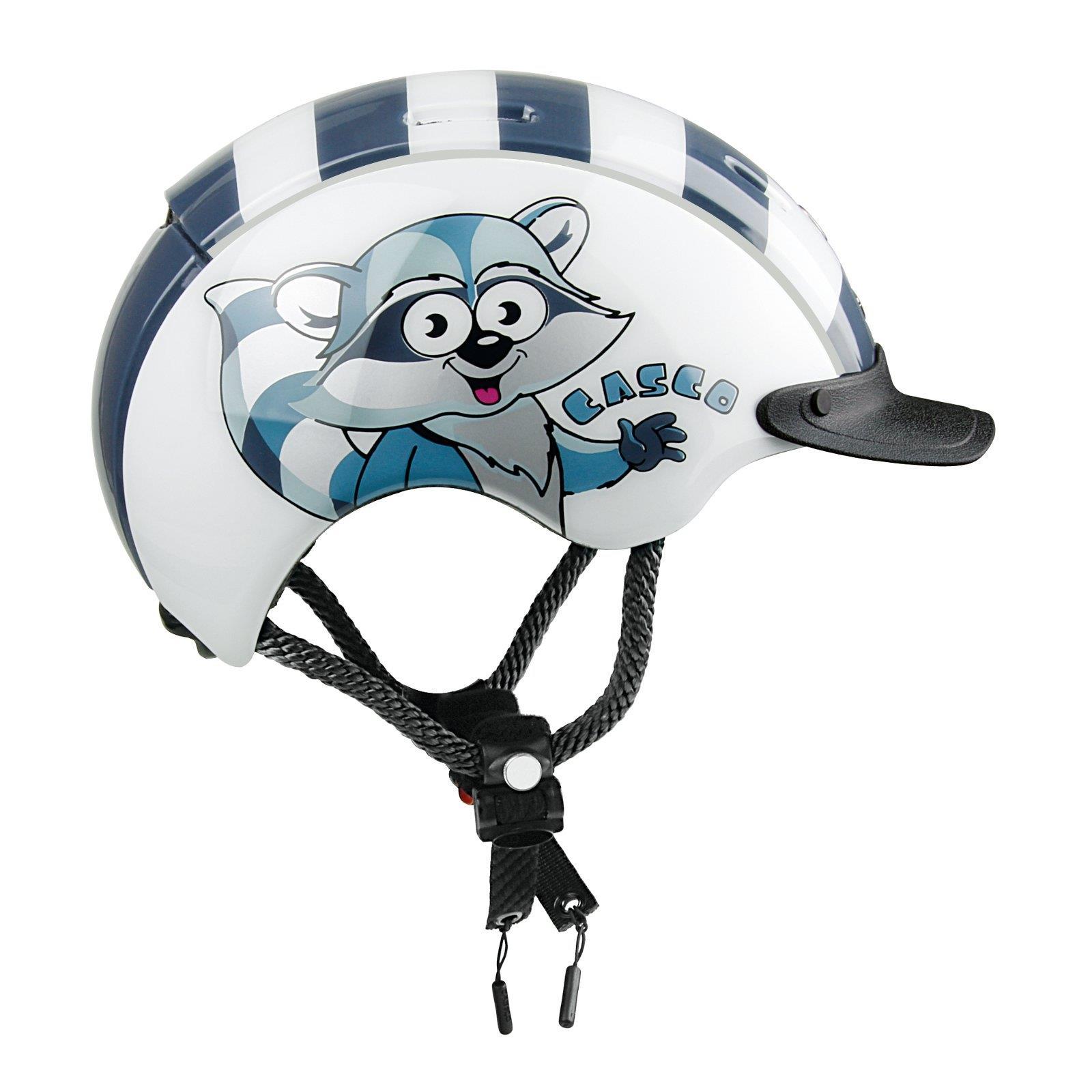 CASCO Kinder Helm Mini Generation Waschbaer Weiss Fahrrad