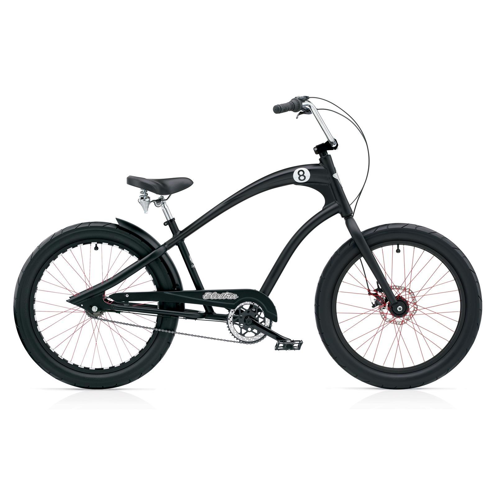 Electra-Straight-8-8i-Men-Black-Satin-DISC-Cruiser-Fahrrad-Modell-2014