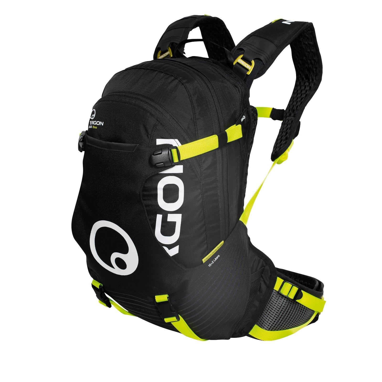 ergon ba3 evo enduro schwarz neon gelb rucksack. Black Bedroom Furniture Sets. Home Design Ideas