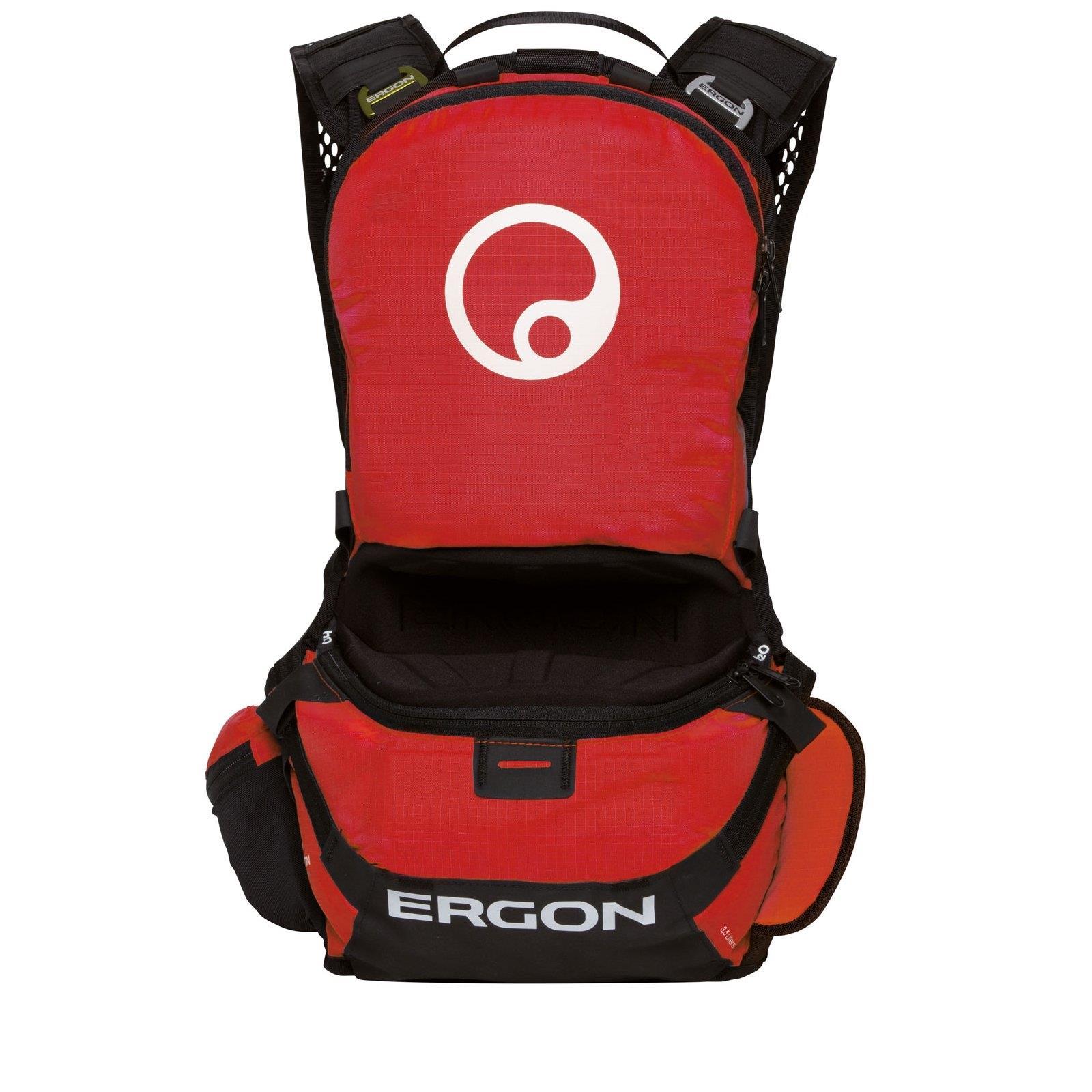 Trink Rucksack Rot MTB Gravity Downhill Ergon BE1 Enduro Protect Protektor