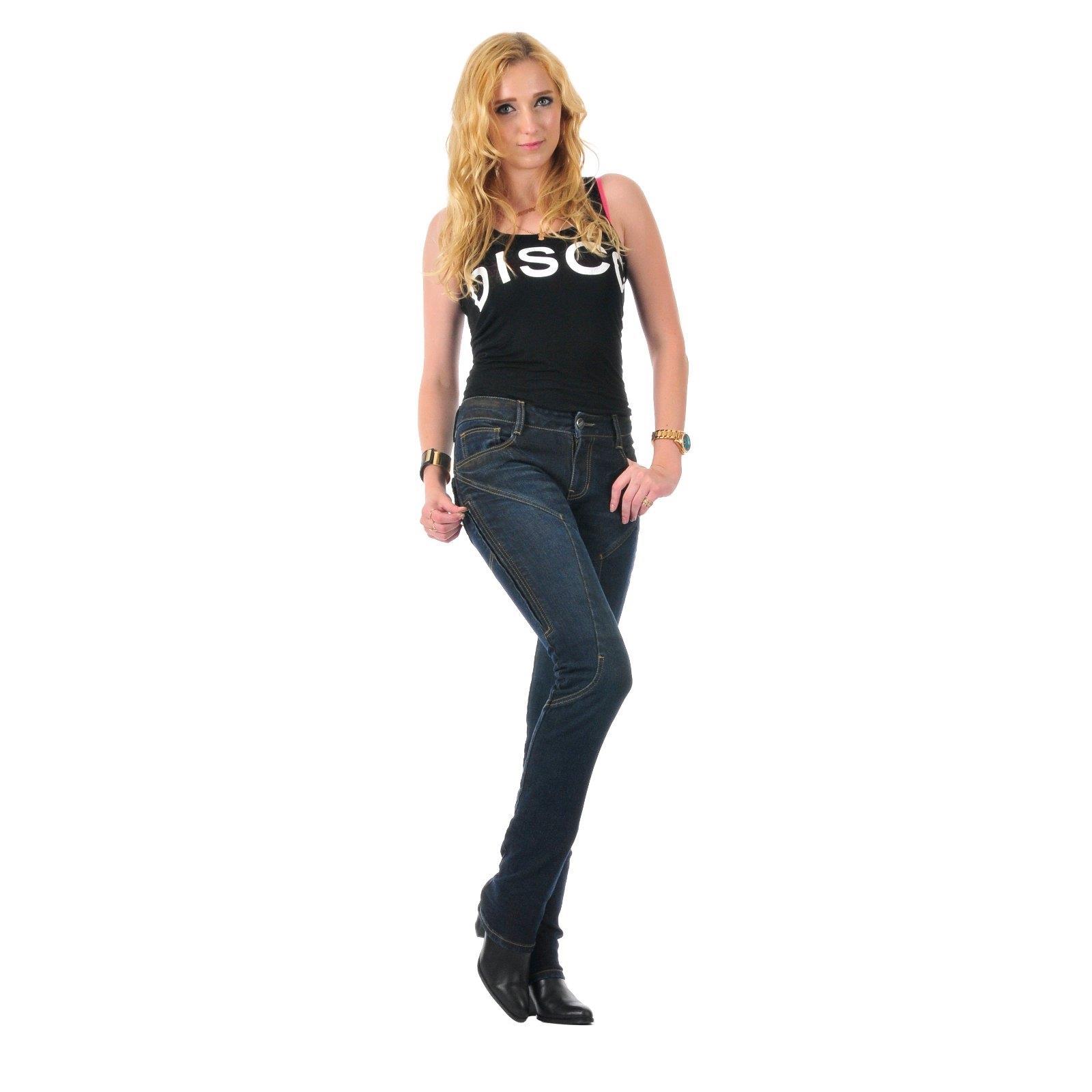 germot jessy motorrad jeans damen regular blau protektoren. Black Bedroom Furniture Sets. Home Design Ideas