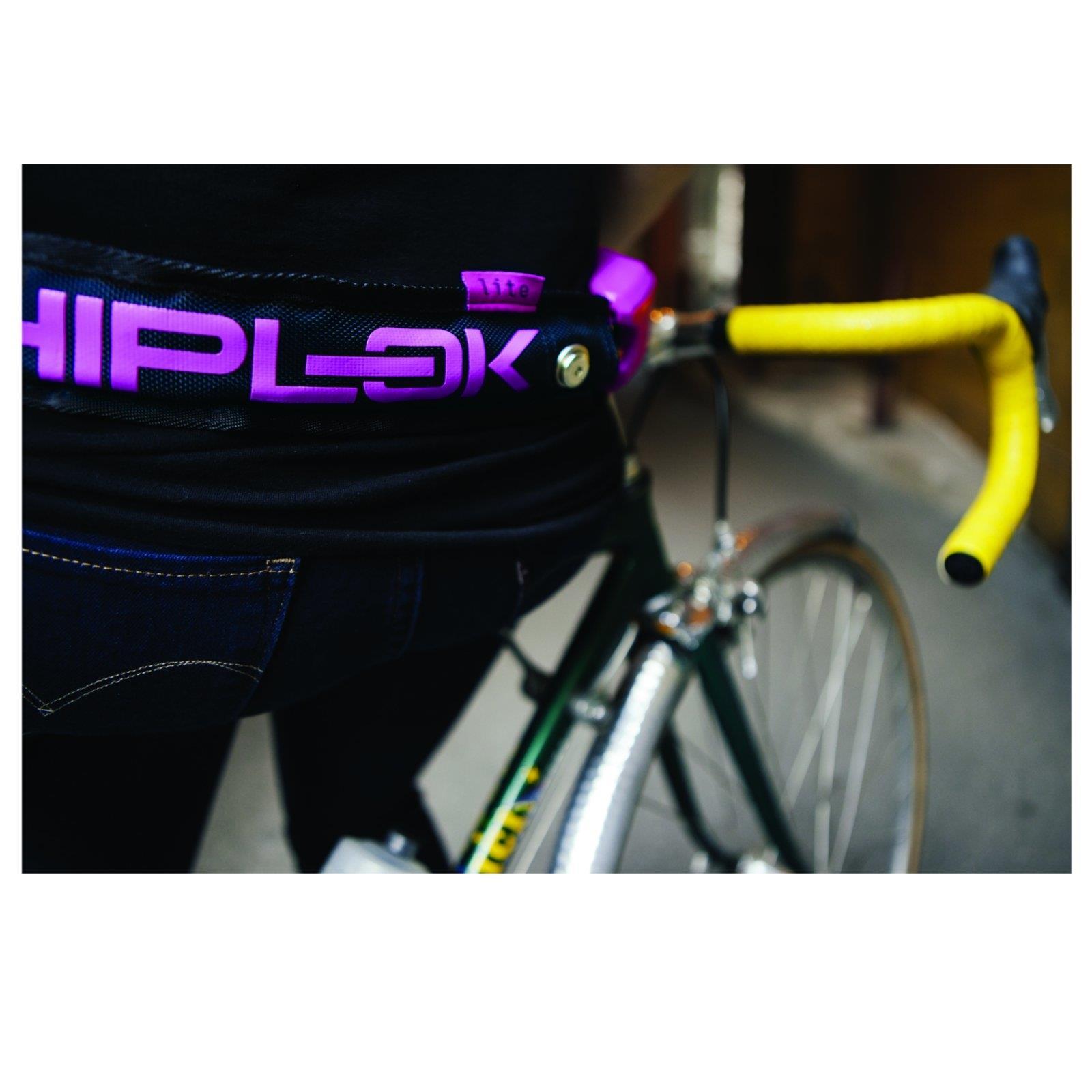 Hiplok Lite catene lucchetto CINTURA PORTATILE anca 6mm CATENA IN IN IN ACCIAIO NYLON BICICLETTA LOCK 481199