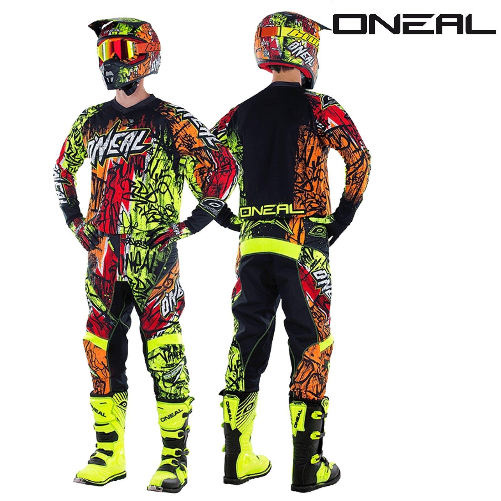 O-039-Neal-elemento-VANDAL-Combo-Jersey-Pantaloni-Motocross-MX-MTB-DH-DOWNHILL-OFFROAD miniatura 7