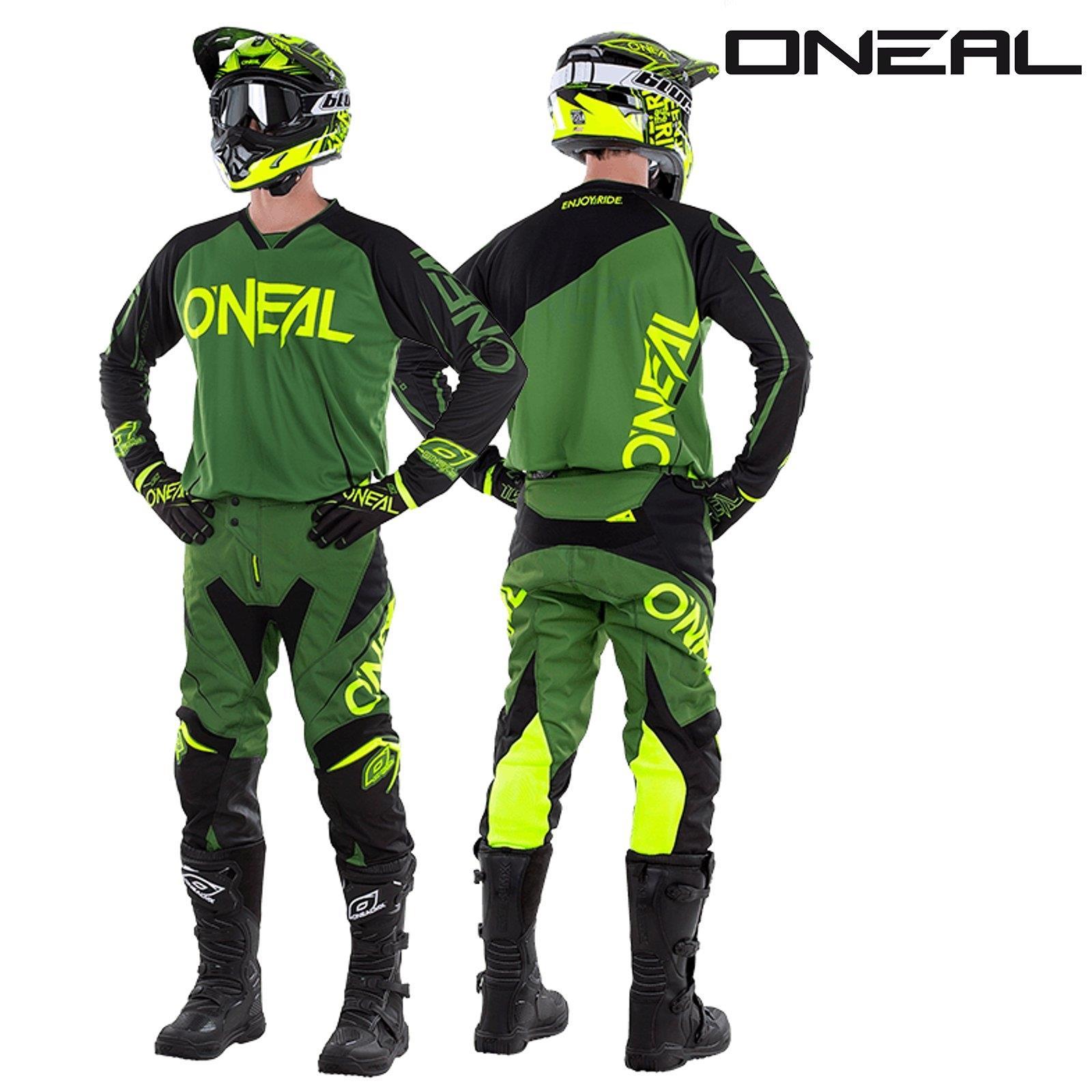 O-039-neal-Mayhem-Lite-Jersey-pantalones-combo-bloqueador-motocross-MX-quad-todoterreno-MTB-DH miniatura 12