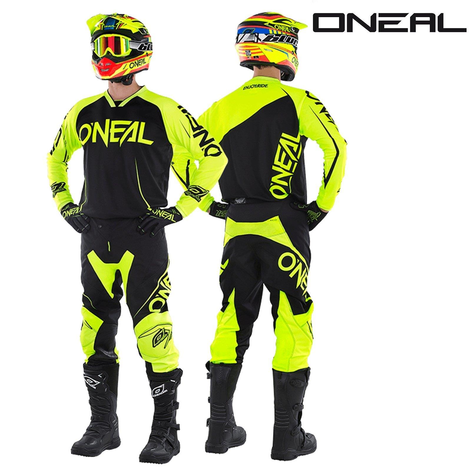 O-039-neal-Mayhem-Lite-Jersey-pantalones-combo-bloqueador-motocross-MX-quad-todoterreno-MTB-DH miniatura 7