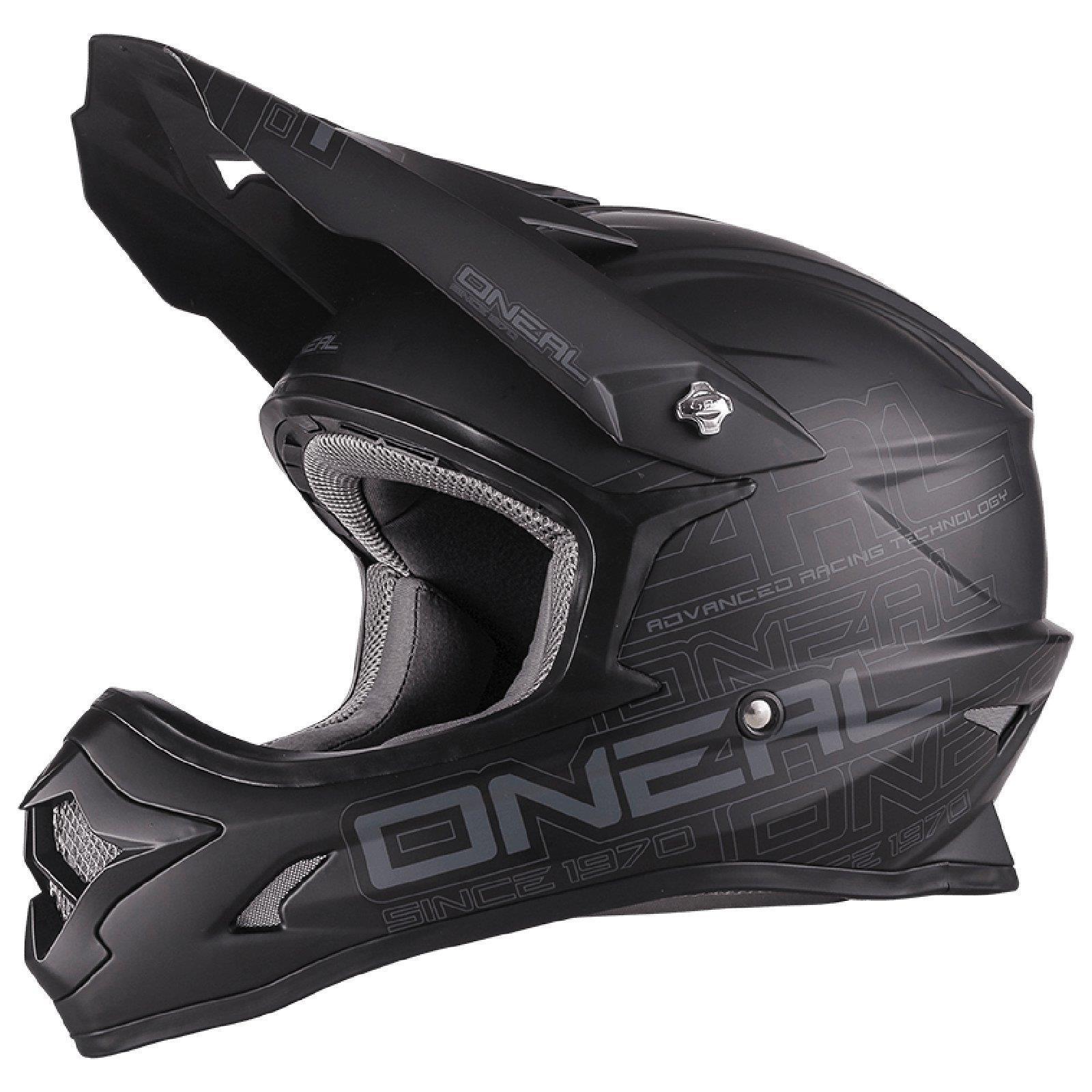 O-039-Neal-3Series-MX-Helm-Flat-Schwarz-ABS-Enduro-Moto-Cross-Motorrad-Offroad-Quad