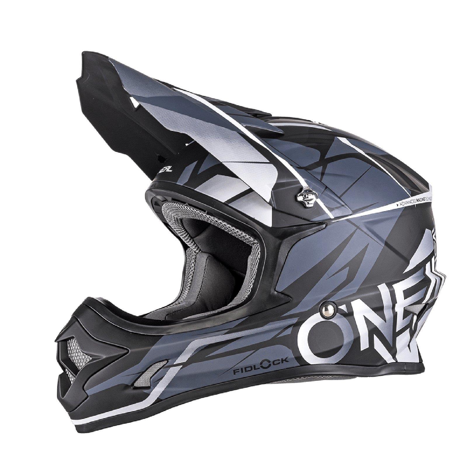 ONeal 3Series Helm Freerider Fidlock Schwarz Grau MX