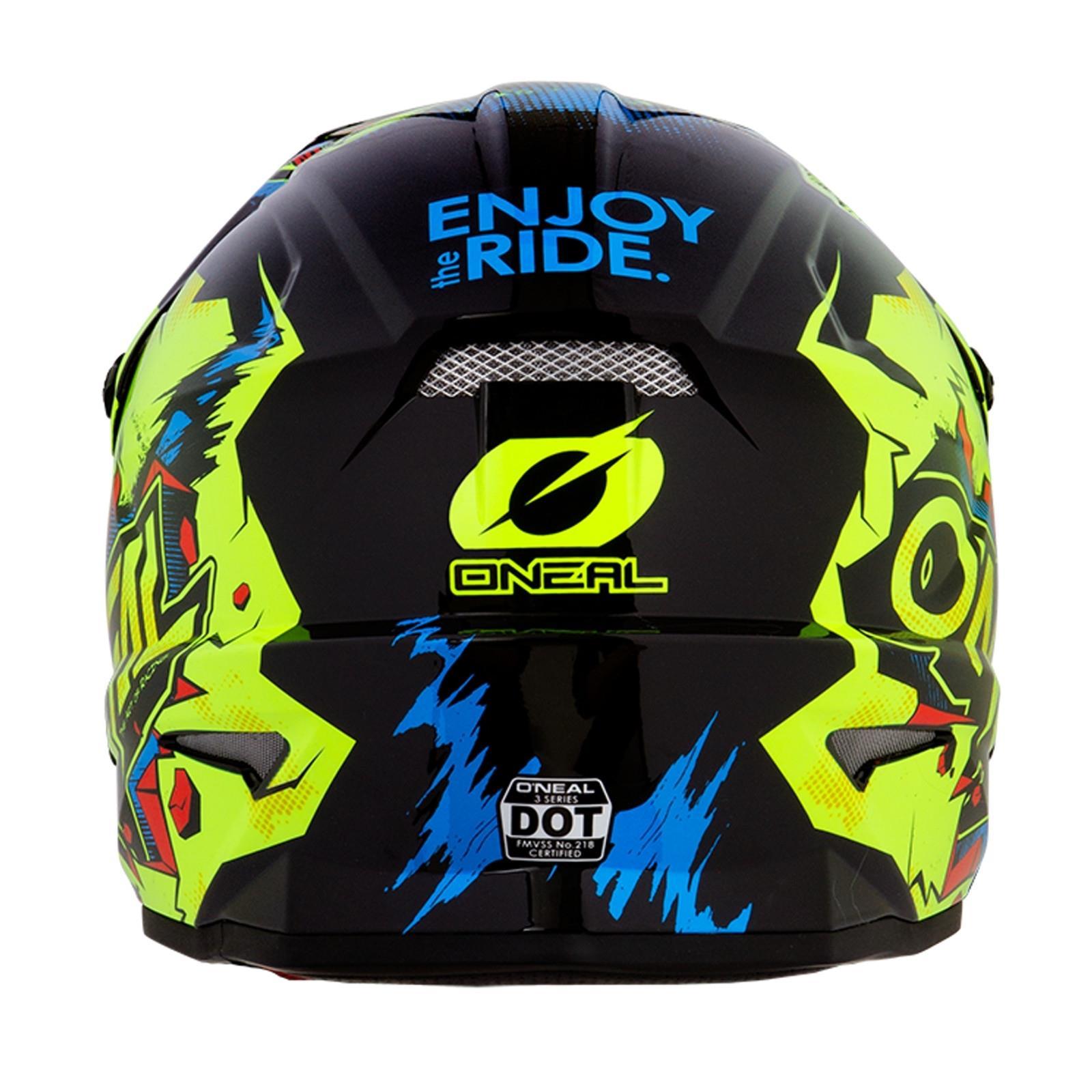 ONeal-Motocross-casco-MX-ENDURO-MOTO-BICI-FUORISTRADA-CROSS-Series-Adventure miniatura 50