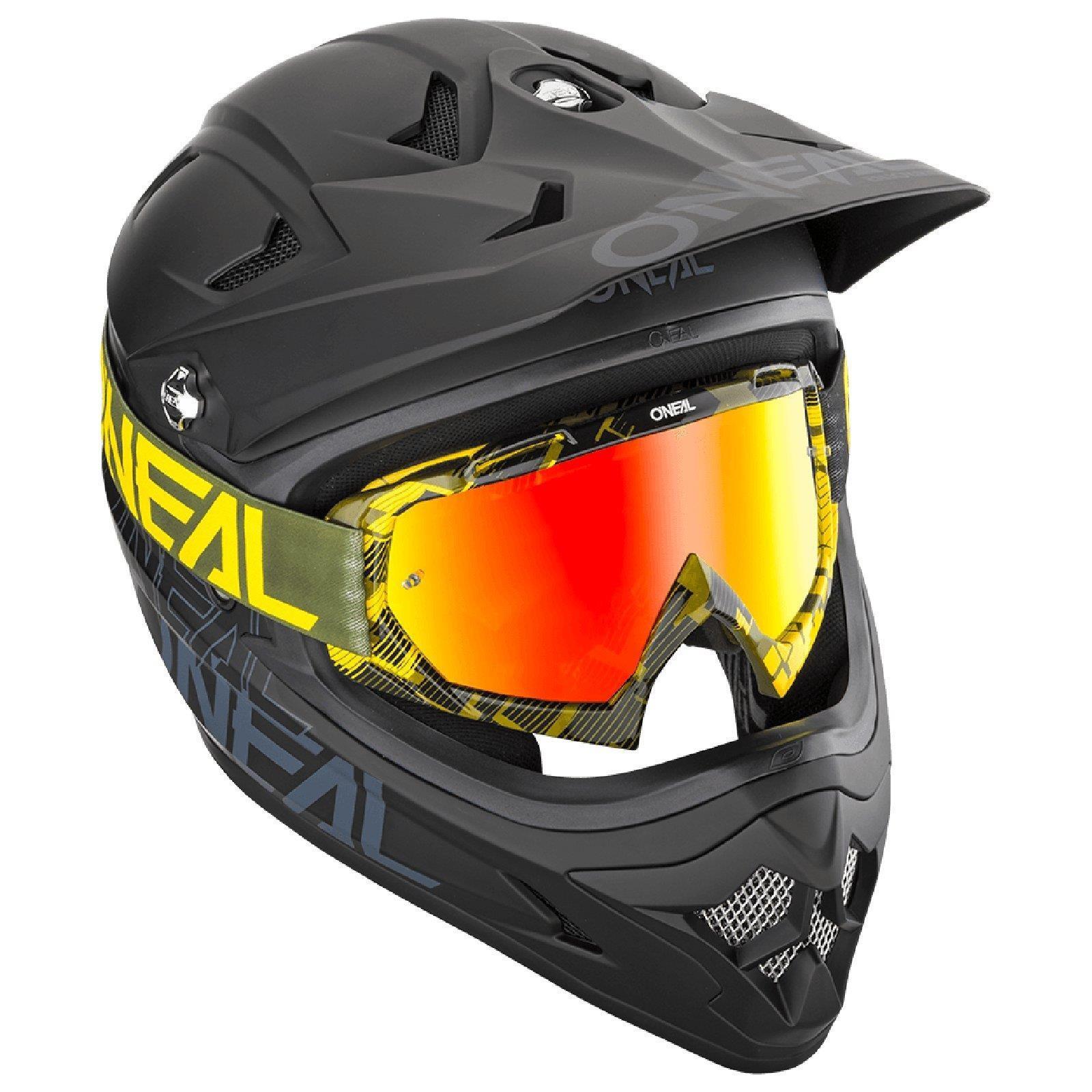 miniatuur 17 - O'Neal B-10 Goggle Pixel Radium Moto Cross Brille Downhill AntiFog Mountainbike