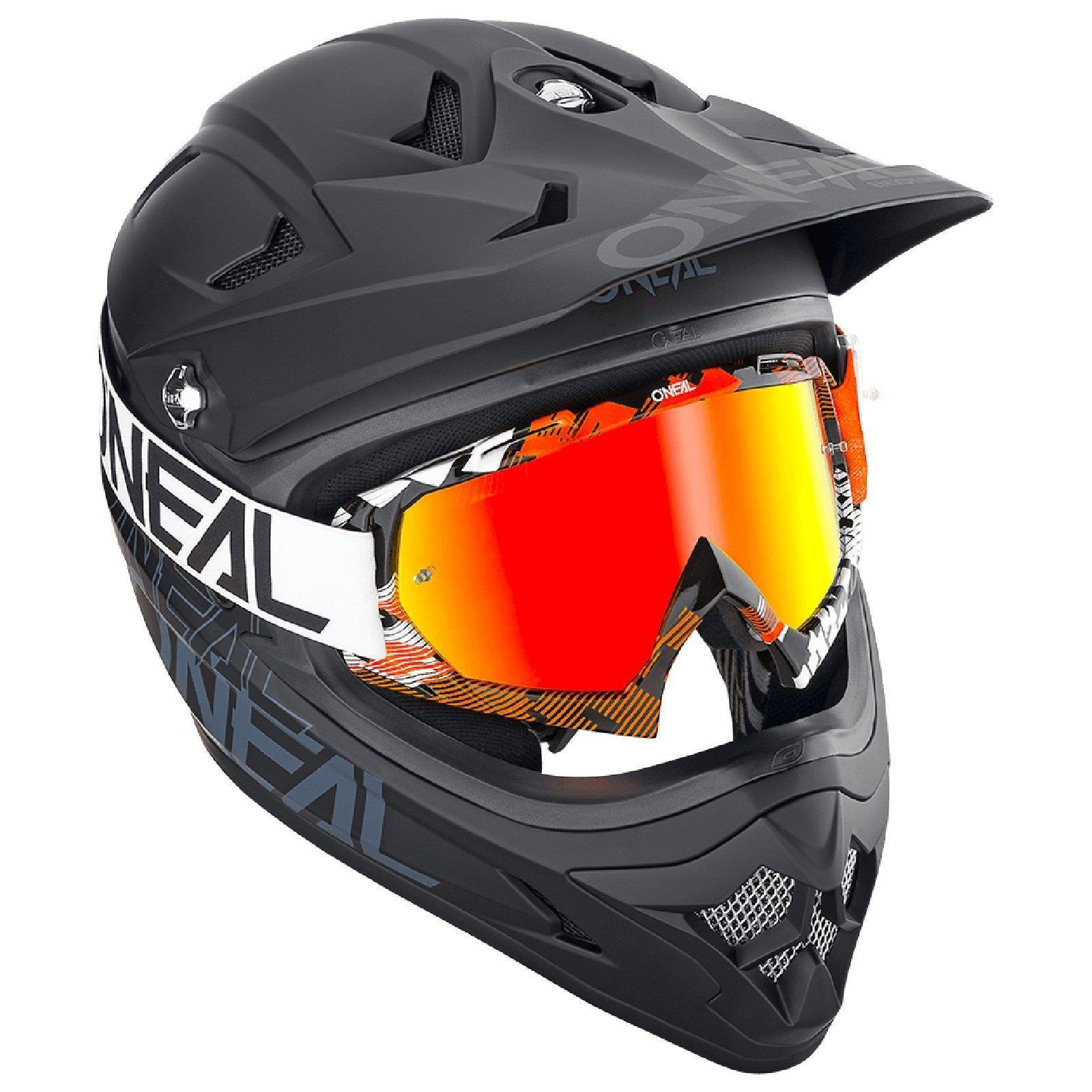 miniatuur 11 - O'Neal B-10 Goggle Pixel Radium Moto Cross Brille Downhill AntiFog Mountainbike