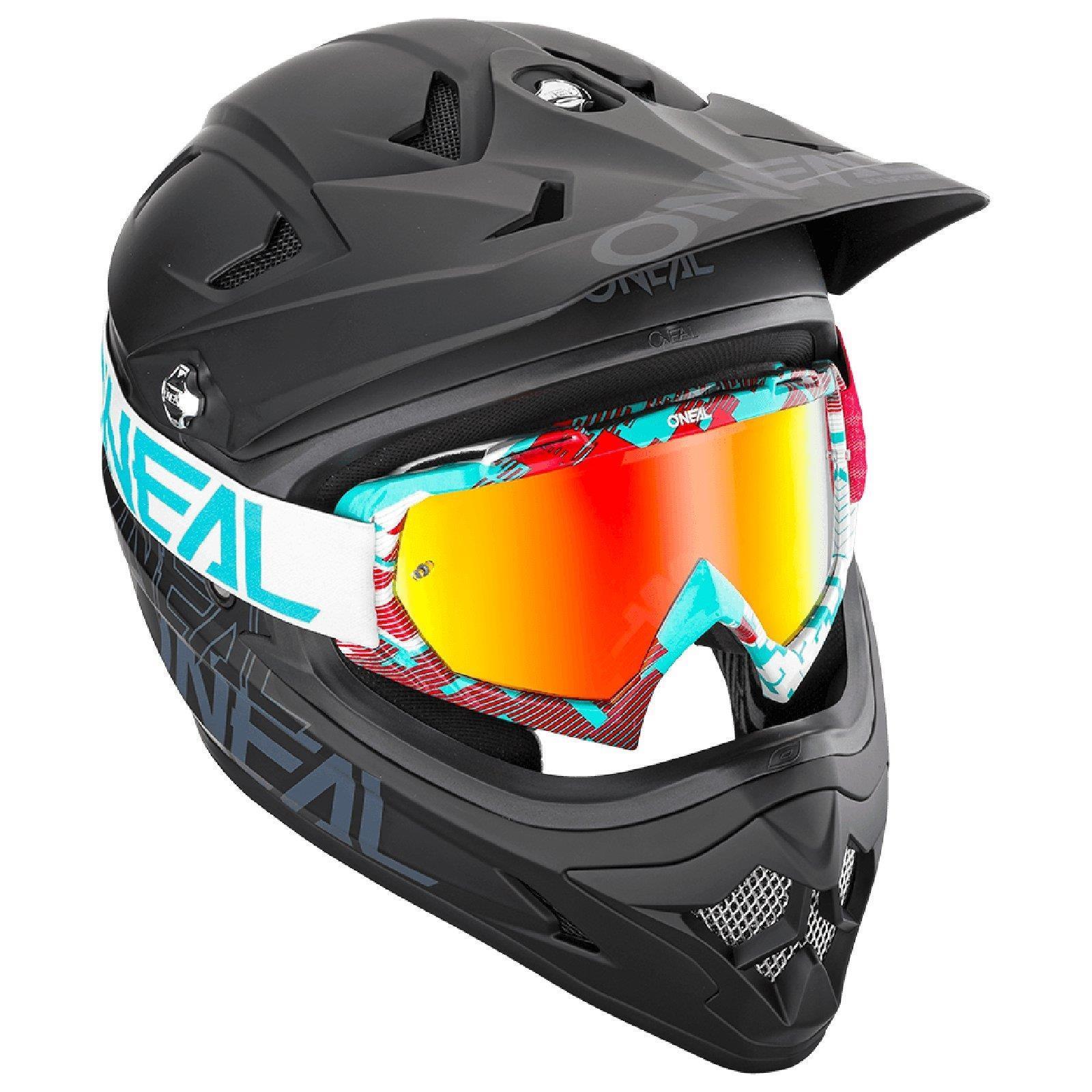 miniatuur 13 - O'Neal B-10 Goggle Pixel Radium Moto Cross Brille Downhill AntiFog Mountainbike