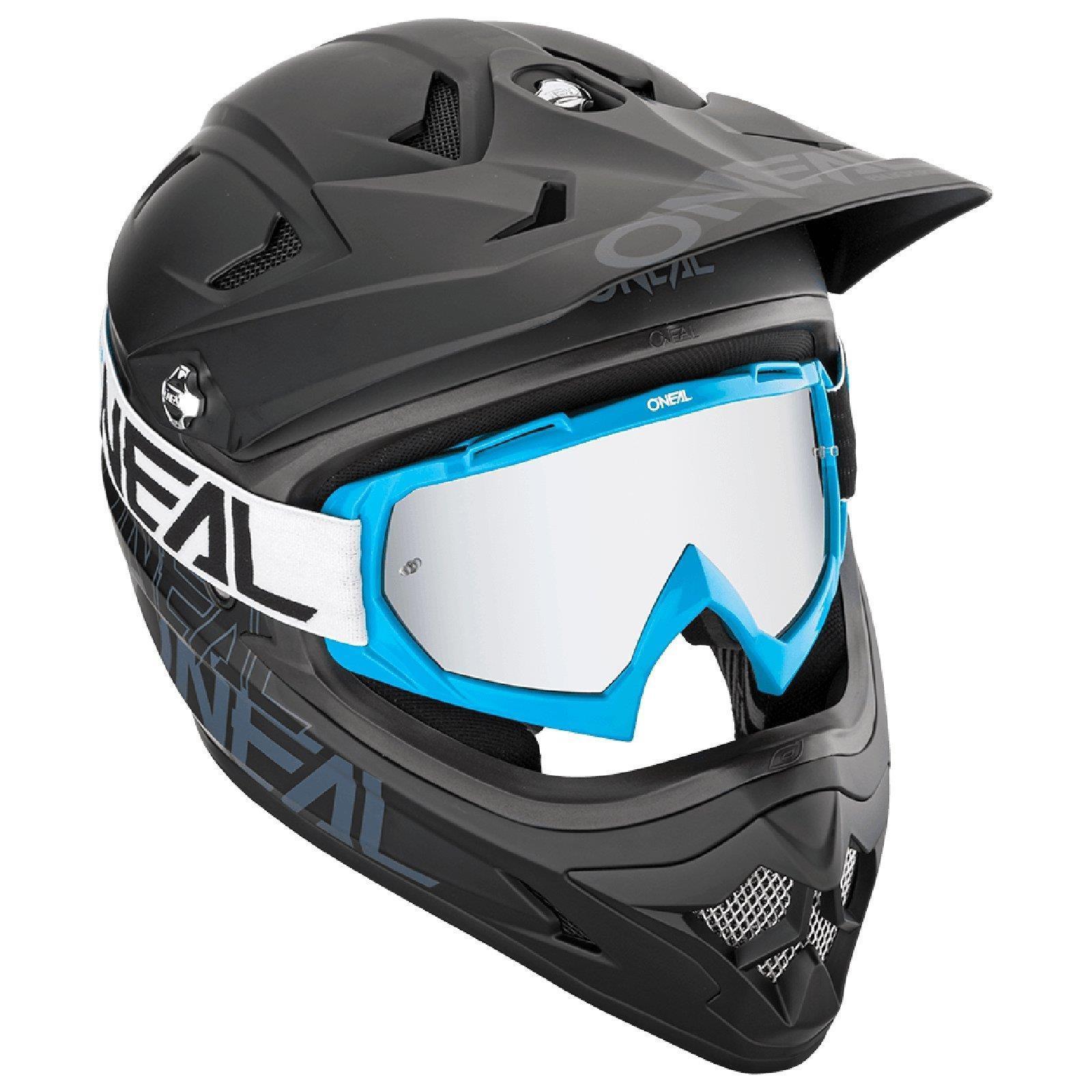 miniatuur 7 - O'Neal B-10 Goggle Twoface MX Brille Verspiegelt Silber Moto Cross Downhill MTB