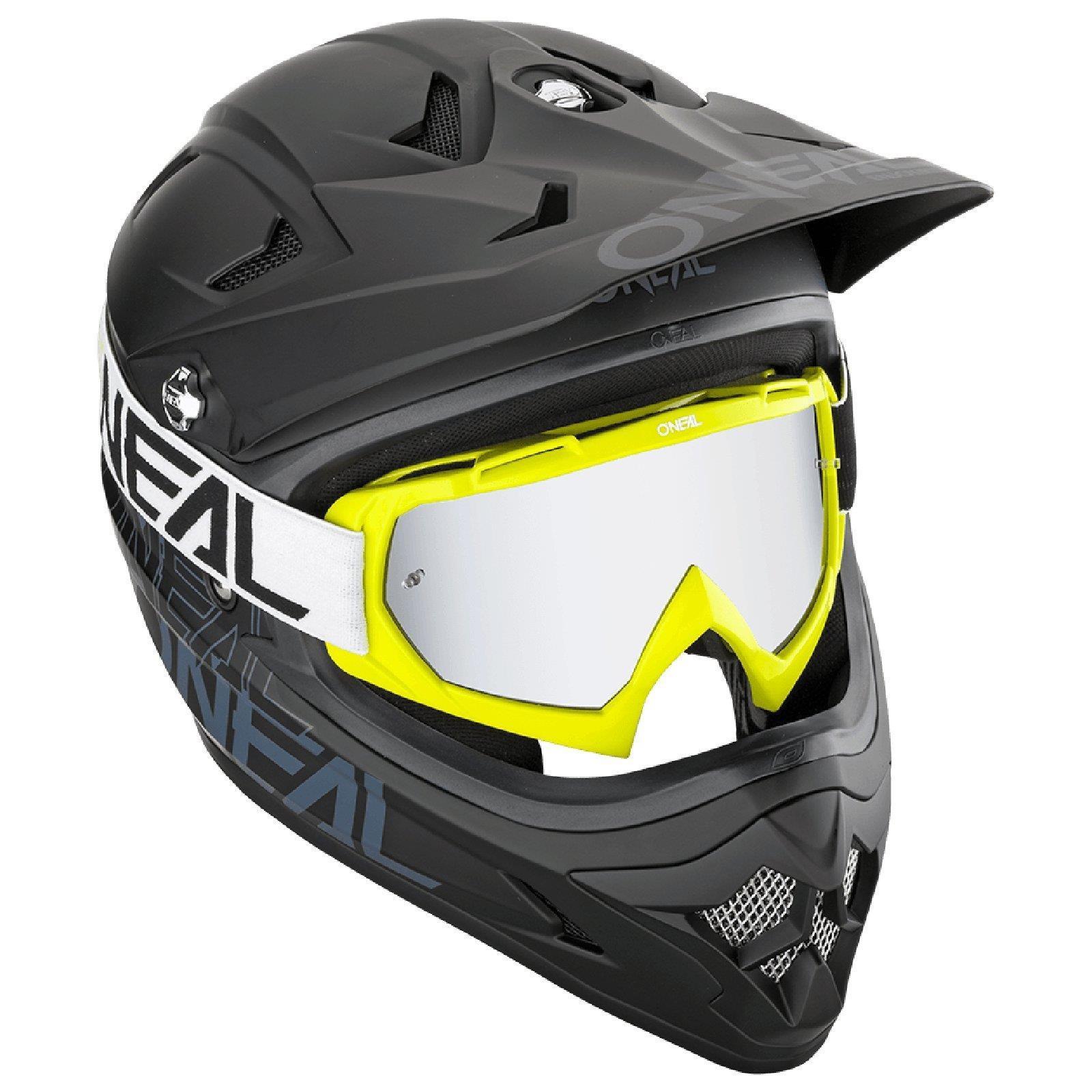 miniatuur 14 - O'Neal B-10 Goggle Twoface MX Brille Verspiegelt Silber Moto Cross Downhill MTB