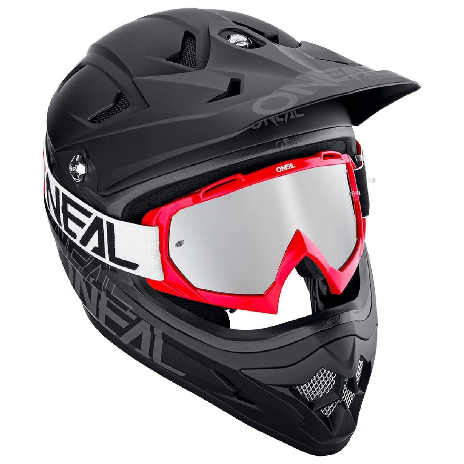 miniatuur 11 - O'Neal B-10 Goggle Twoface MX Brille Verspiegelt Silber Moto Cross Downhill MTB