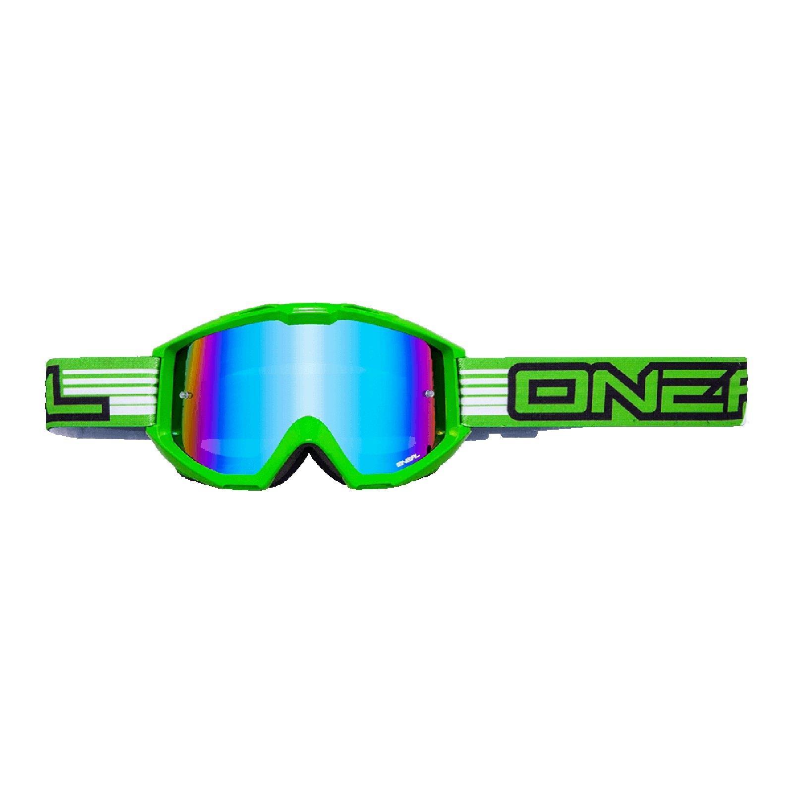 ONeal B-Flex Goggle verspiegelt Gelb MX DH Enduro Moto Cross Brille MTB Freeride