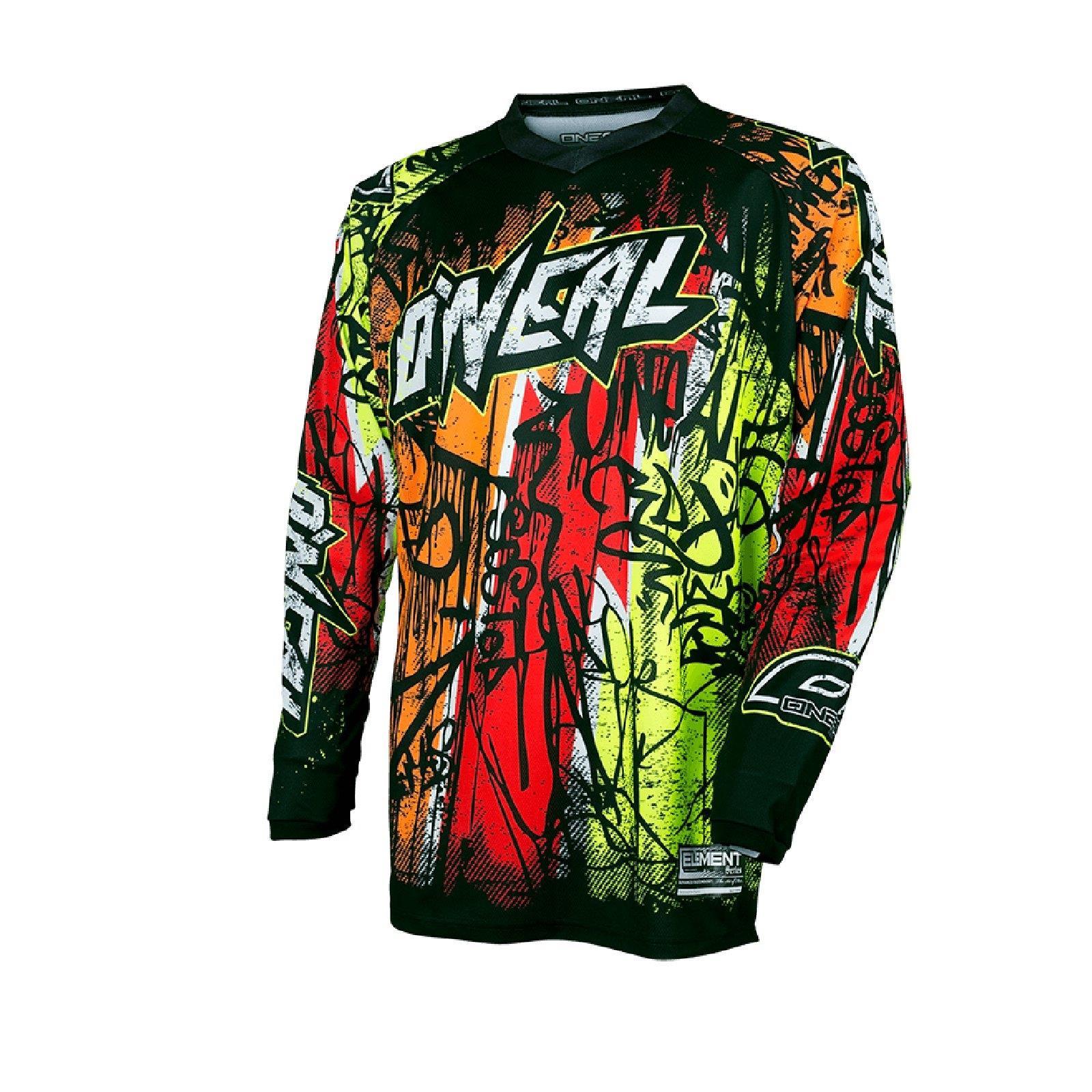ONEAL-Element-MX-Jersey-VANDAL-maglietta-moto-cross-SX-ENDURO-conducente-Camicia-terreno miniatura 2