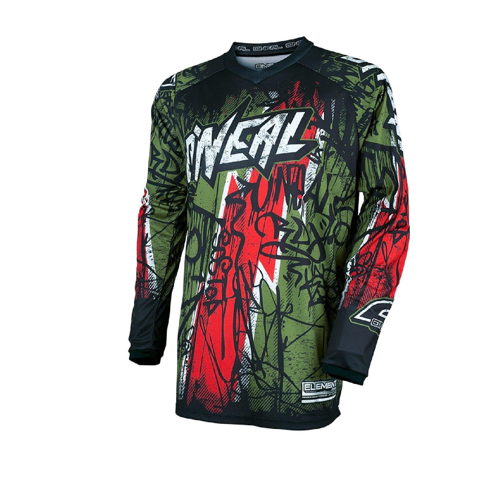 ONEAL-Element-MX-Jersey-VANDAL-maglietta-moto-cross-SX-ENDURO-conducente-Camicia-terreno miniatura 4