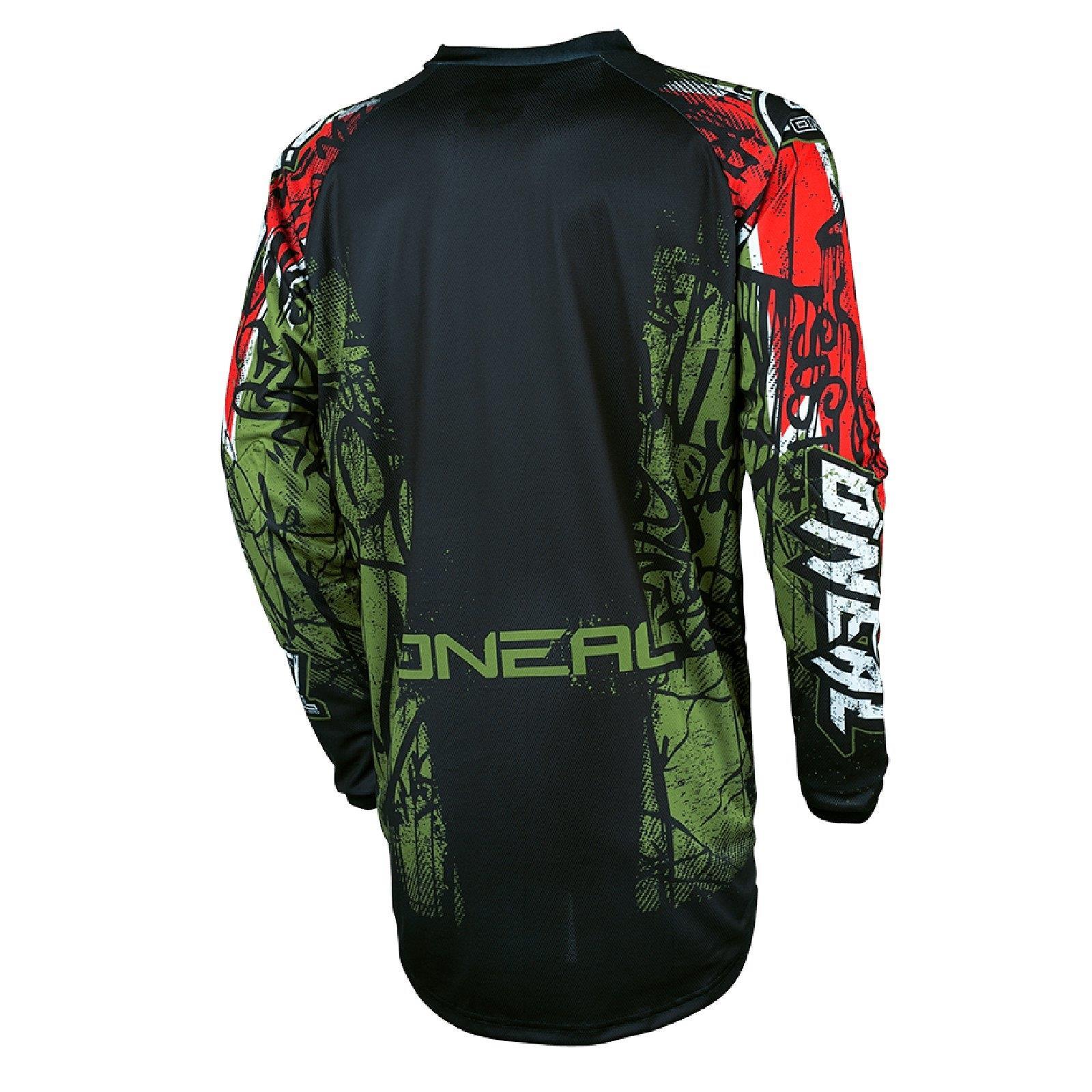 ONEAL-Element-MX-Jersey-VANDAL-maglietta-moto-cross-SX-ENDURO-conducente-Camicia-terreno miniatura 5