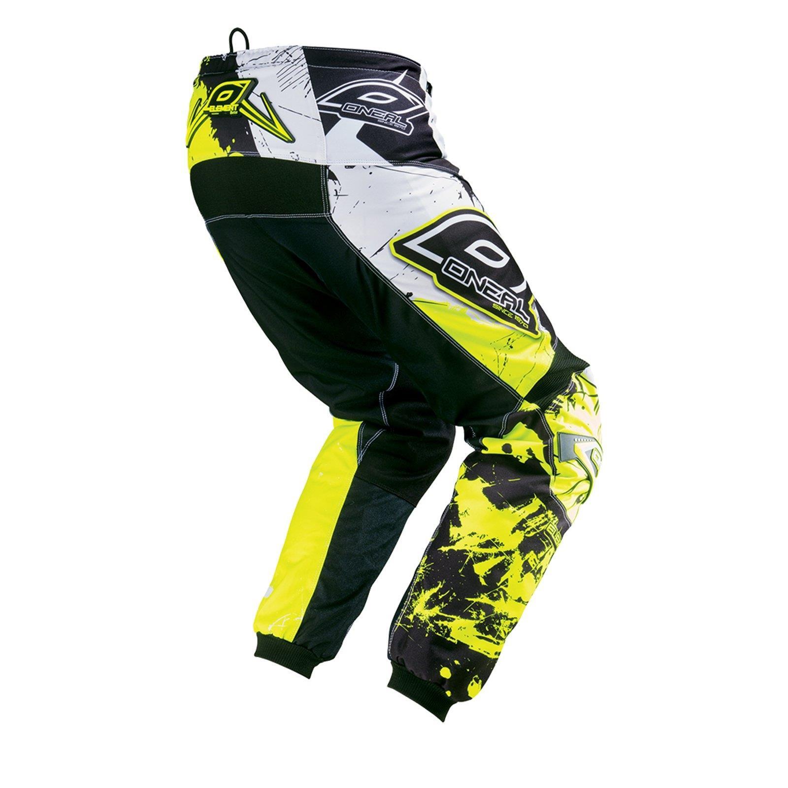 O-039-Neal-elemento-Mayhem-Hardwear-Pants-Pantaloni-MX-MOTO-CROSS-ENDURO-OFFROAD-Pelle miniatura 60