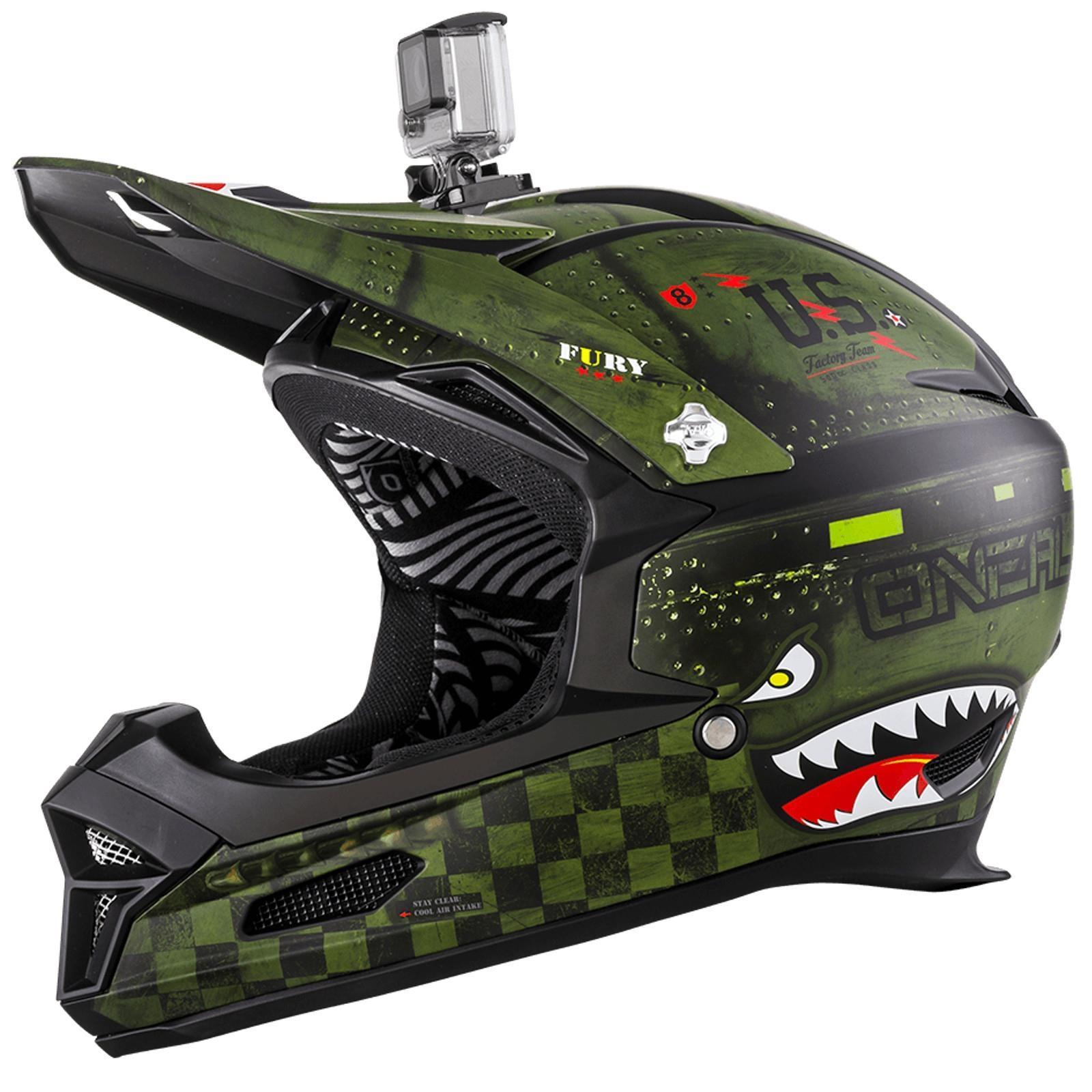 o 39 neal fury rl helm warhawk gr n matt gopro halterung fr. Black Bedroom Furniture Sets. Home Design Ideas