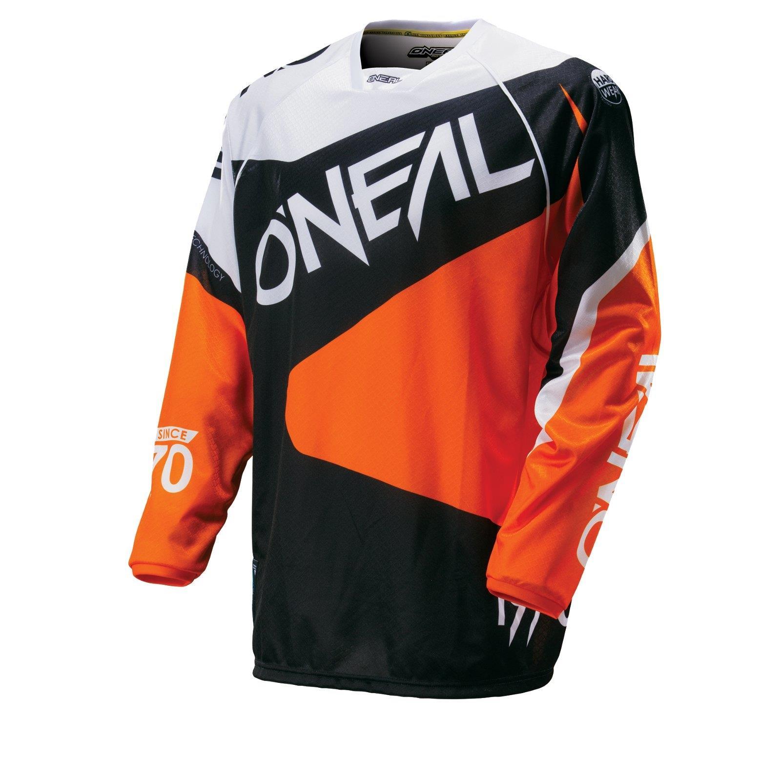 O /'Neal Hardwear MX Jersey FLOW ORANGE SHIRT MOTO CROSS ENDURO MOTO ATV Camicia