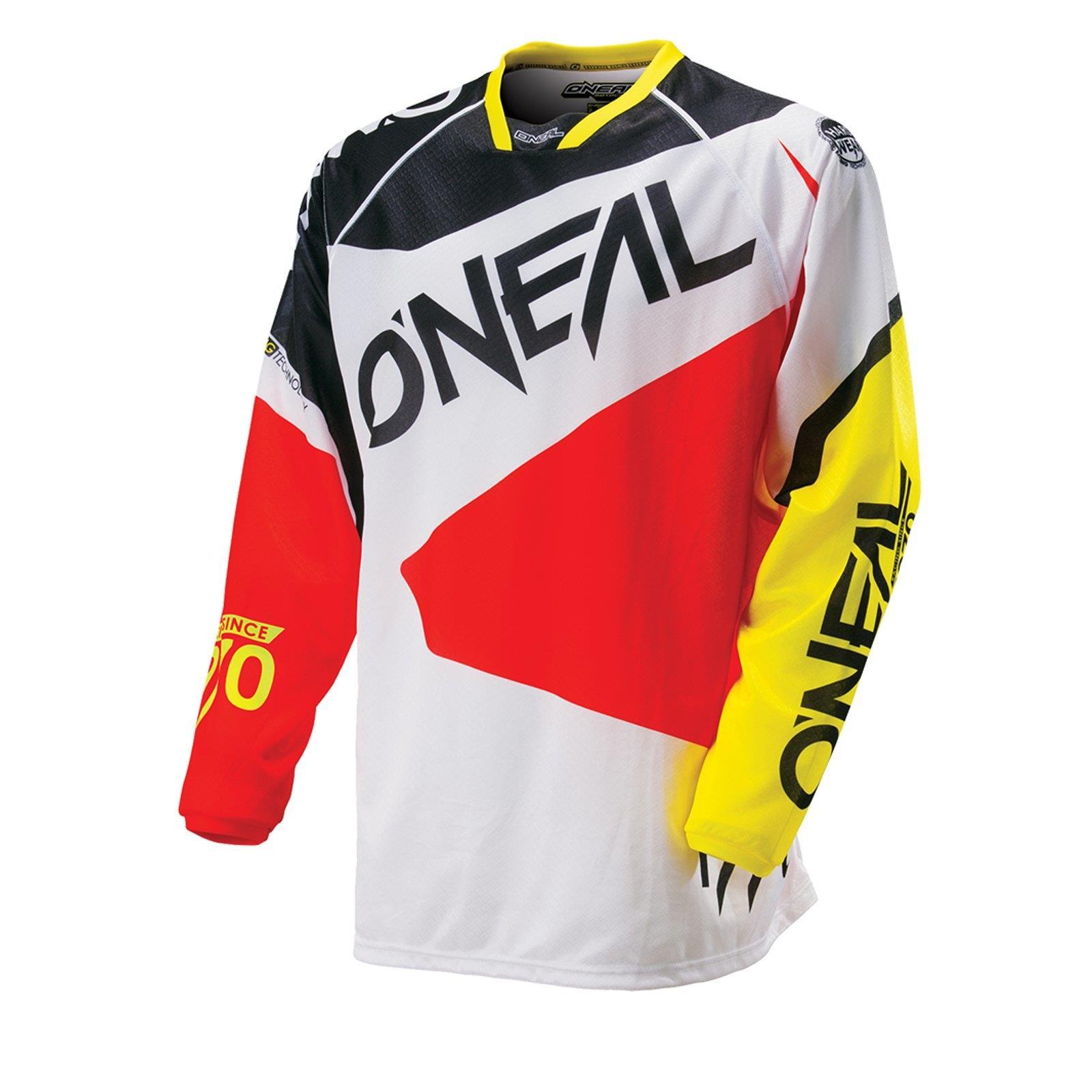 ONEAL-Hardwear-MX-Jersey-FLOW-BIANCO-SHIRT-SUPER-MOTO-CROSS-ENDURO-MOTO-MTB-FR miniatura 3