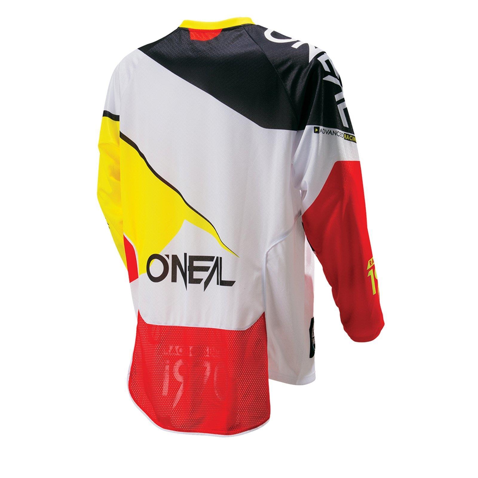ONeal Hardwear MX Jersey FLOW Weiß Shirt Super Moto Cross Enduro Motorrad MTB FR