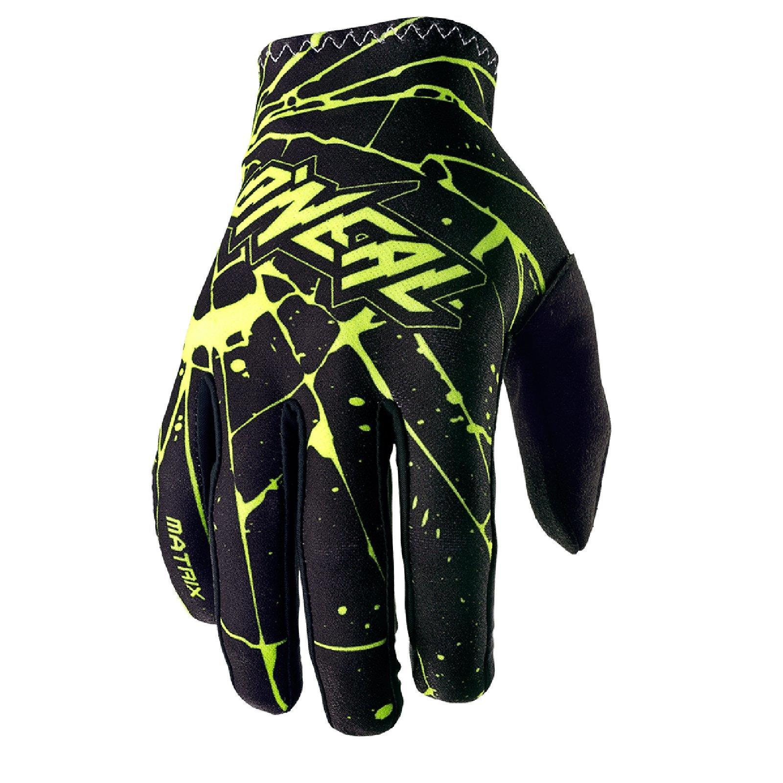 O-039-Neal-Matrix-enigma-Guanti-gloves-motocross-MX-SX-ENDURO-MOTO-QUAD-FMX miniatura 6