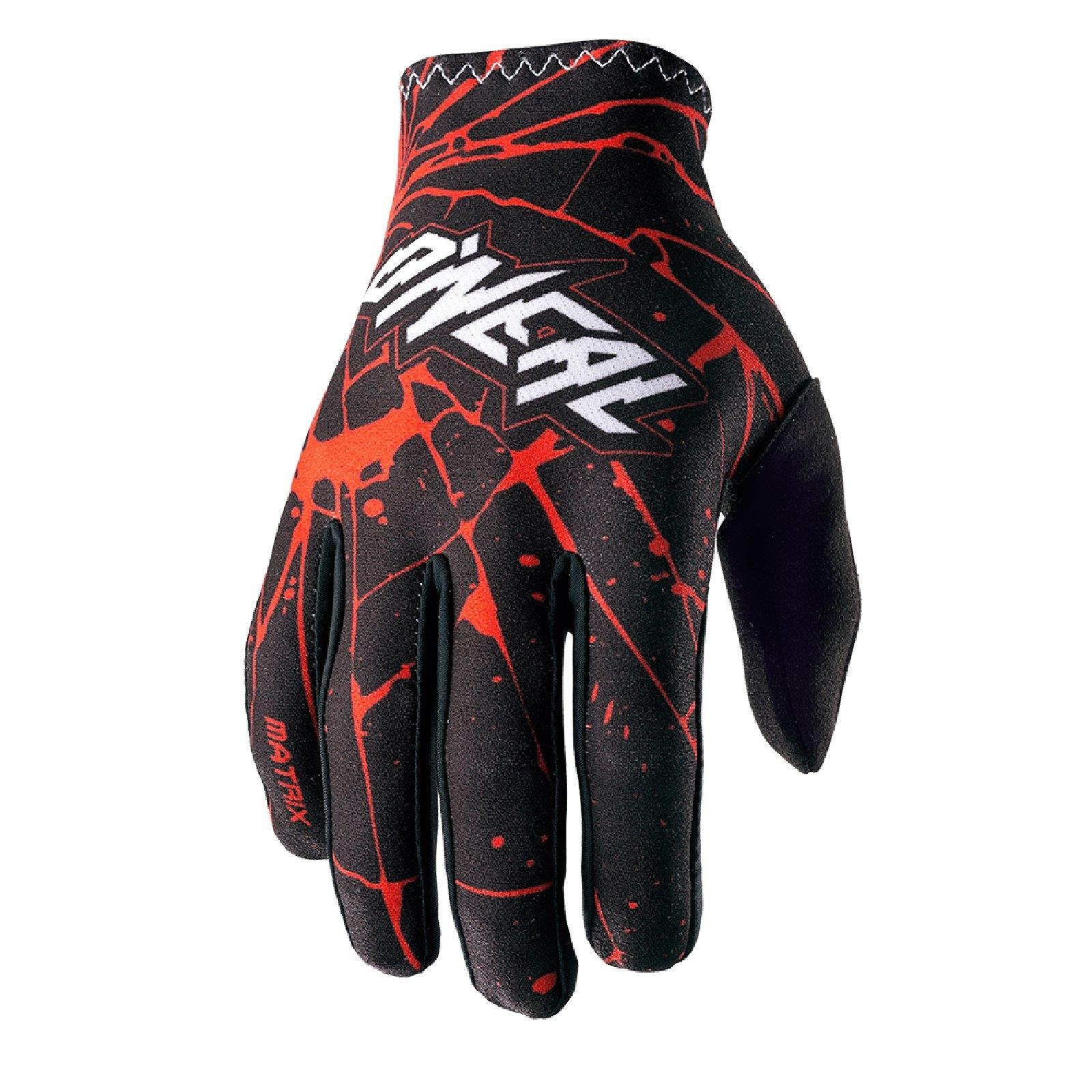 Details zu O'Neal Matrix Handschuhe Enigma Schwarz Fahrrad Downhill MTB Cross Mountainbike