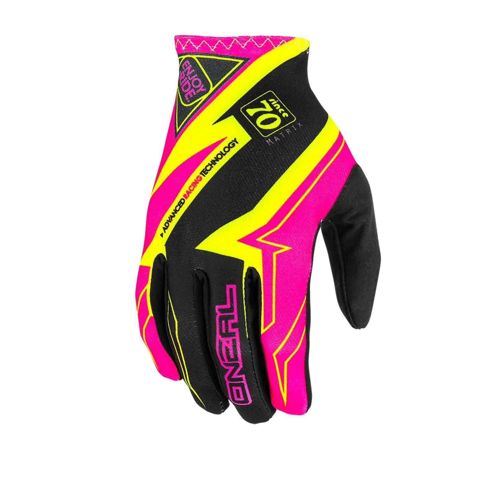 ONEAL Matrix MX Guanti Racewear Rosa MOTO CROSS MTB MX DOWNHILL MOUNTAIN BIKE