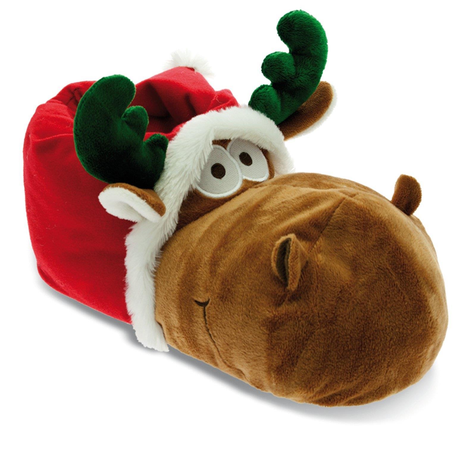 Tier Hausschuhe Weihnachten Elch Rentier Plüsch Pantoffel Schlappen ...