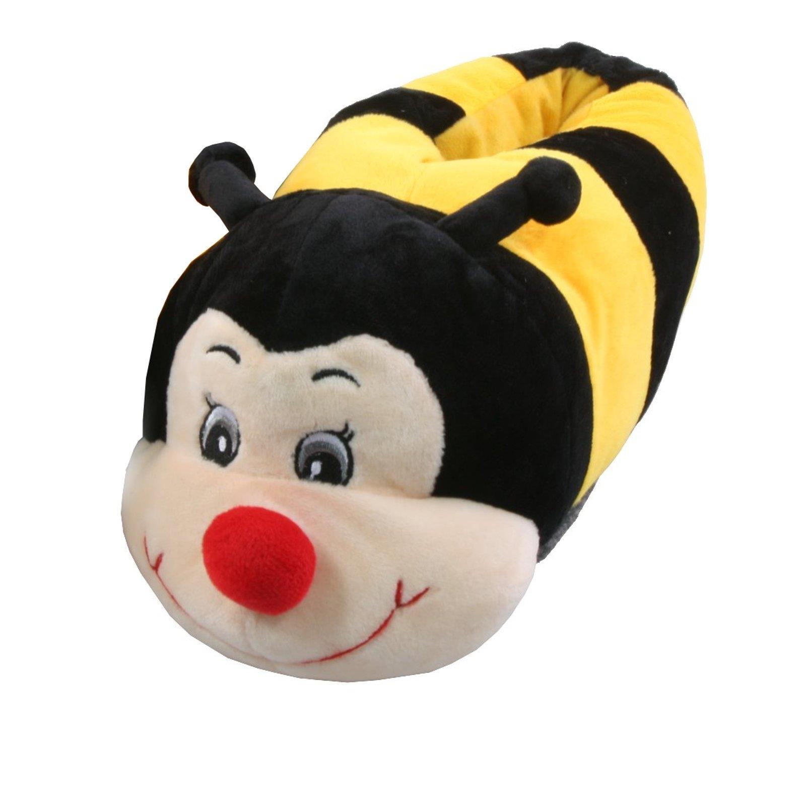 Biene Tier Hausschuhe Pantoffel Gelb Schlappen Kuscheltier Plüsch Kinder Gelb Pantoffel 36-41 e55cf7