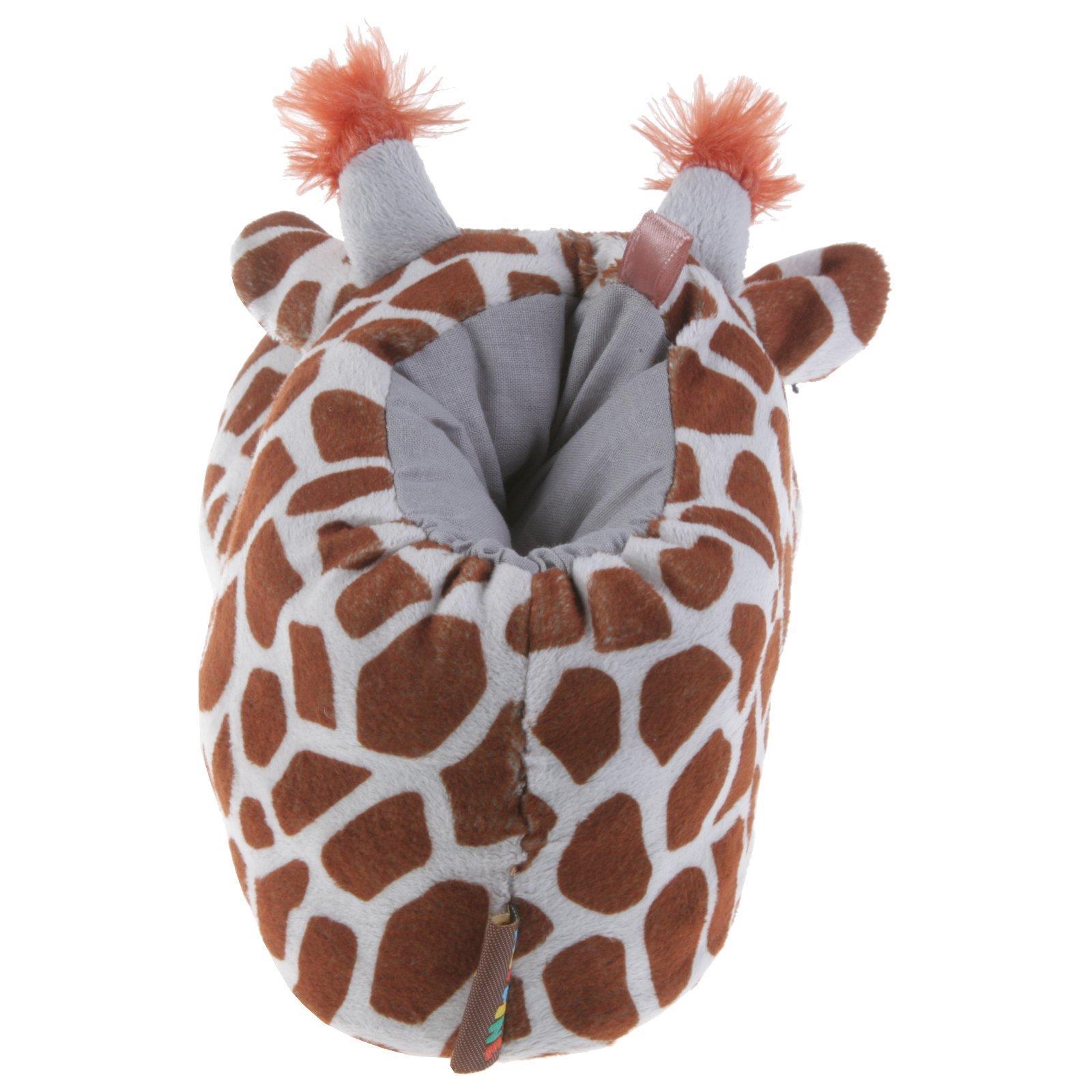 Giraffe Tier Hausschuhe Pantoffel Schlappen Kuscheltier Plüsch Damen Beige 35-41