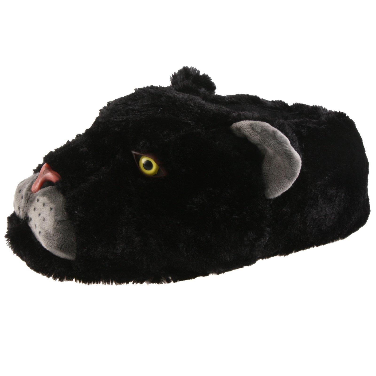black panther tier hausschuhe pantoffel schlappen pl sch herren schwarz 35 46 ebay. Black Bedroom Furniture Sets. Home Design Ideas