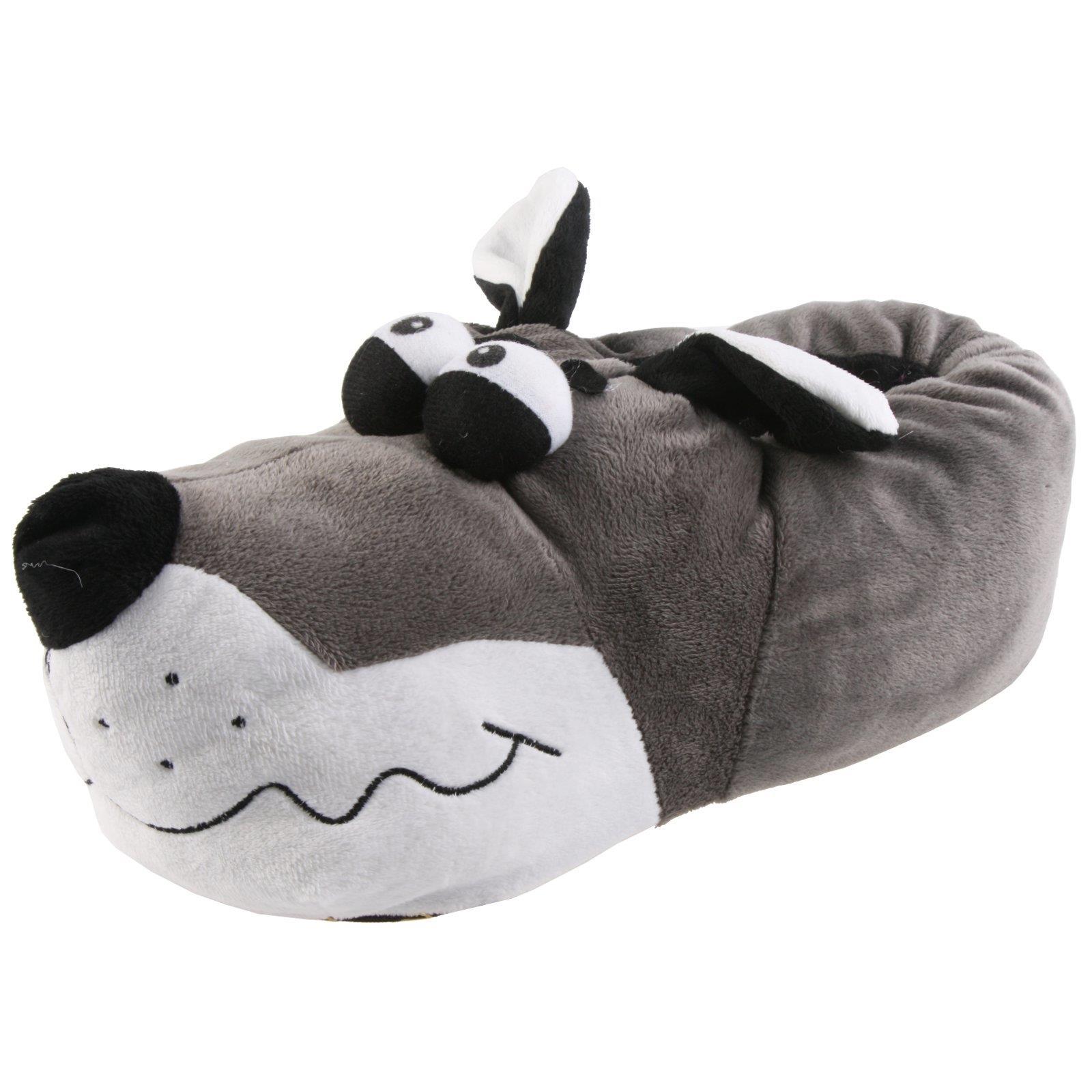 Tier Hausschuhe Plüsch Schlappen Pantoffel Puschen Hund Welpe Kinder Erwachsene