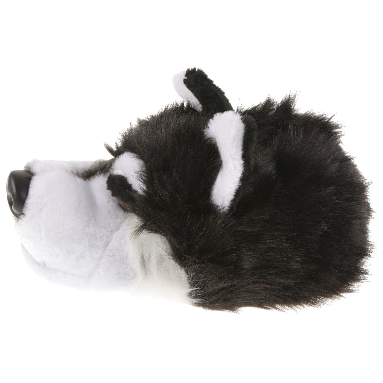 Husky Husky Husky Loup Animal Chaussons Pantoufle Chaussons Peluche Chien Chaussures Noir 36-48 081f9b