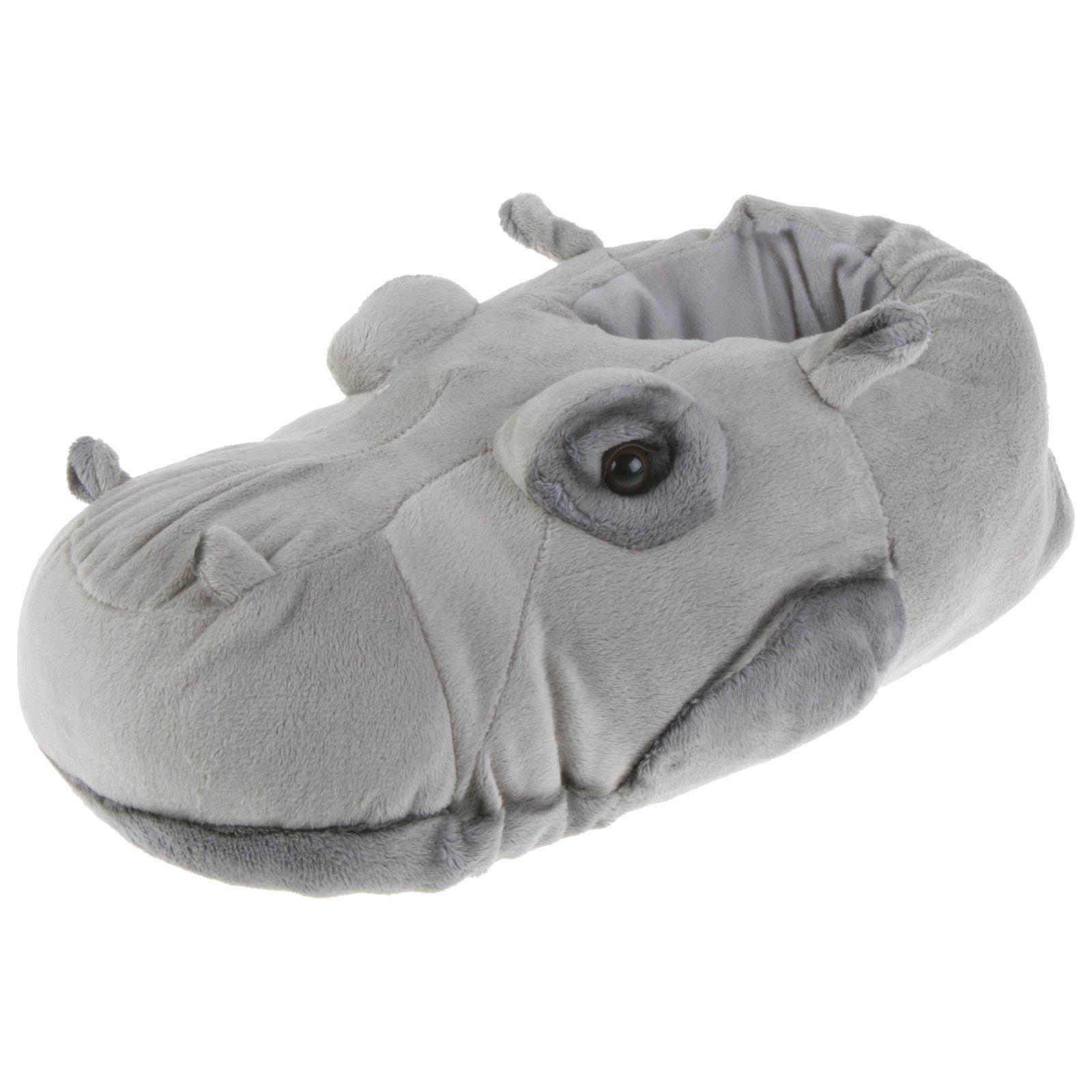 Flusspferd-Hippo-Tier-Hausschuhe-Pantoffel-Schlappen-Nilpferd-Pluesch-36-48 Indexbild 7