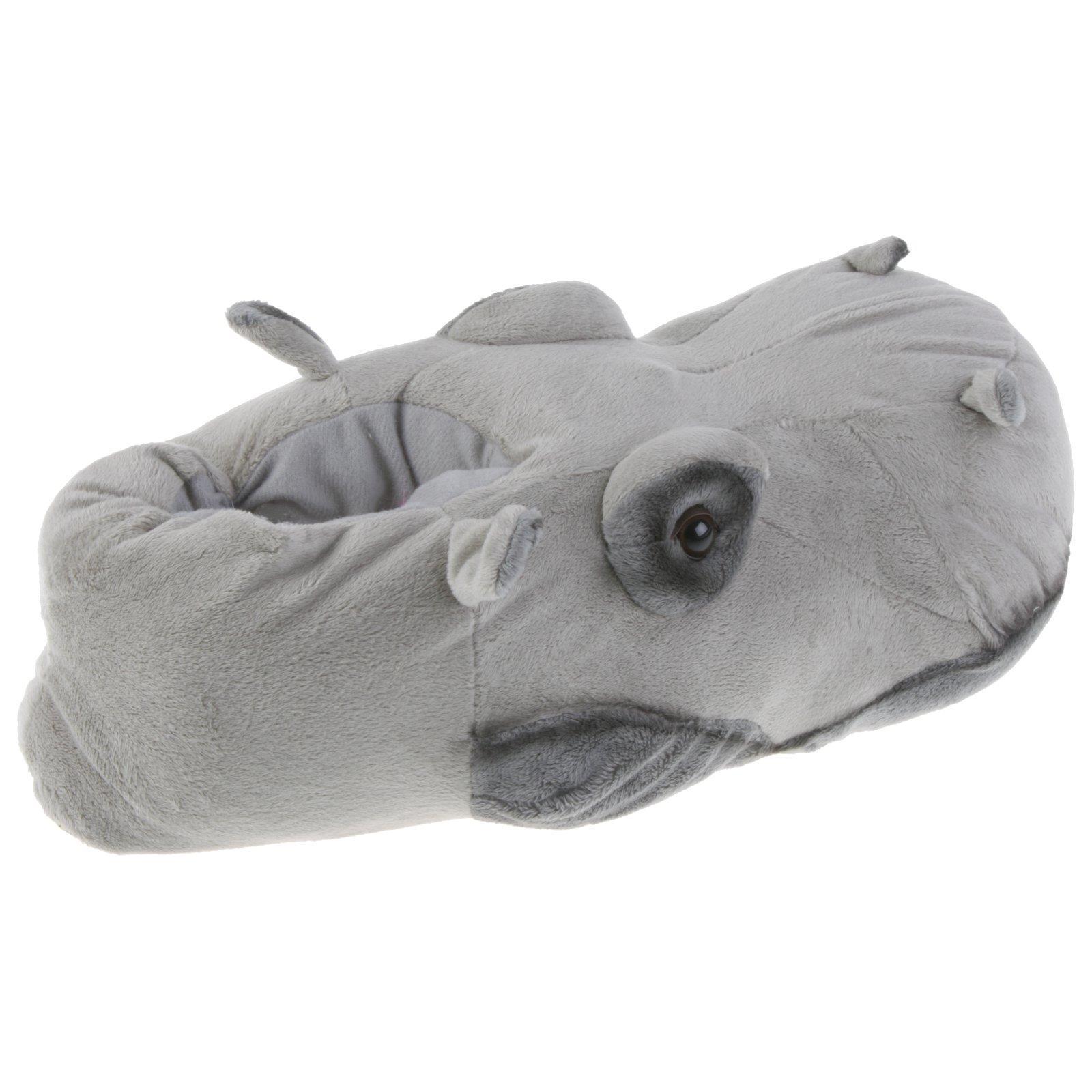 Flusspferd-Hippo-Tier-Hausschuhe-Pantoffel-Schlappen-Nilpferd-Pluesch-36-48 Indexbild 10