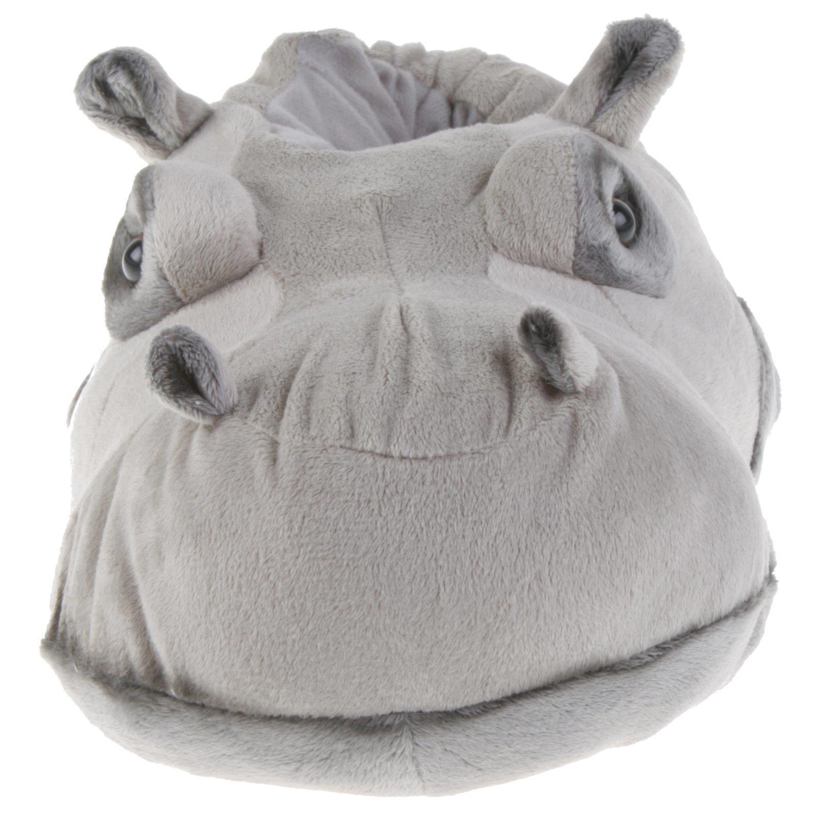 Flusspferd-Hippo-Tier-Hausschuhe-Pantoffel-Schlappen-Nilpferd-Pluesch-36-48 Indexbild 11