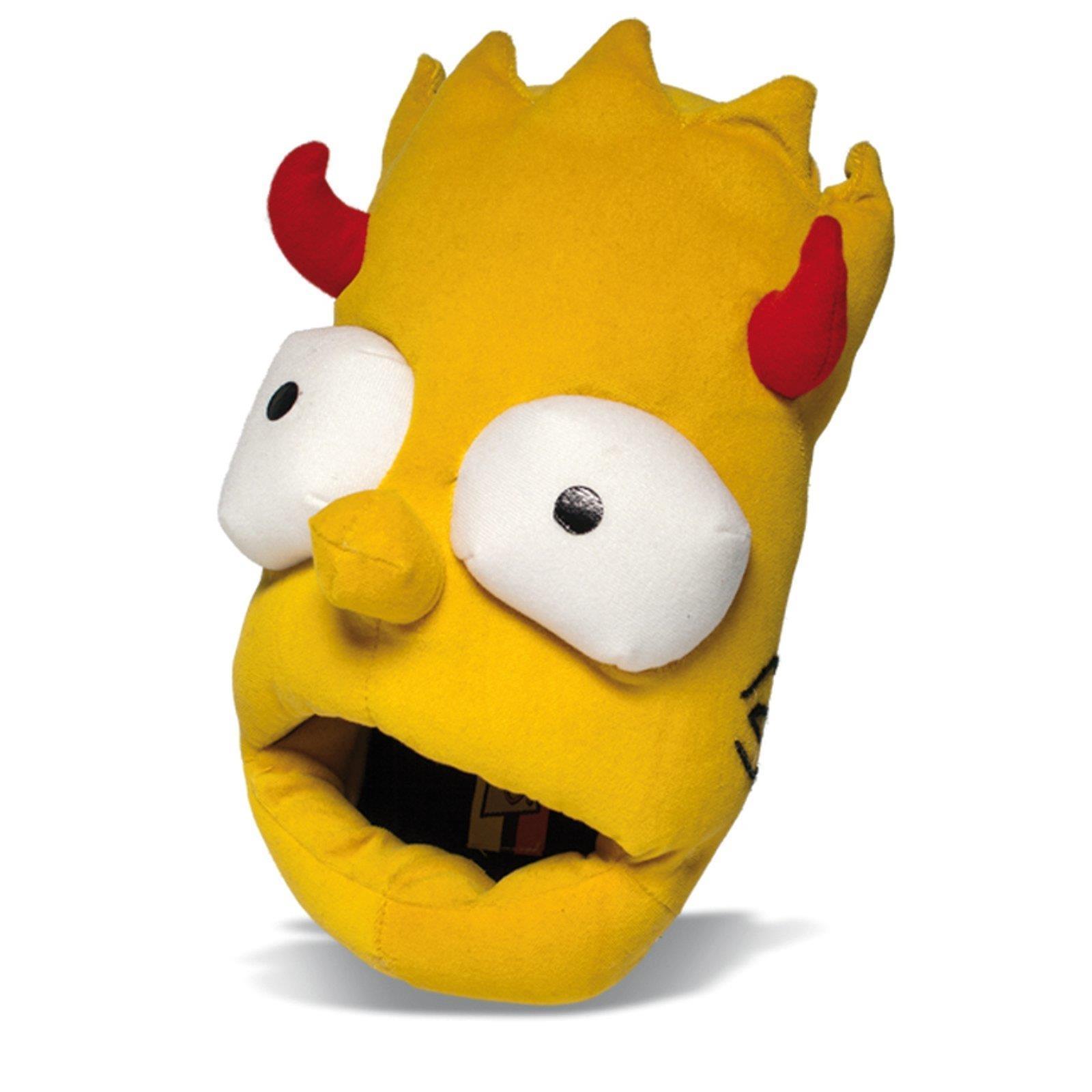 DIE-SIMPSONS-Bart-Simpson-Plusch-Hausschuhe-Puschen-Pantoffel-Schlappen-Puschen