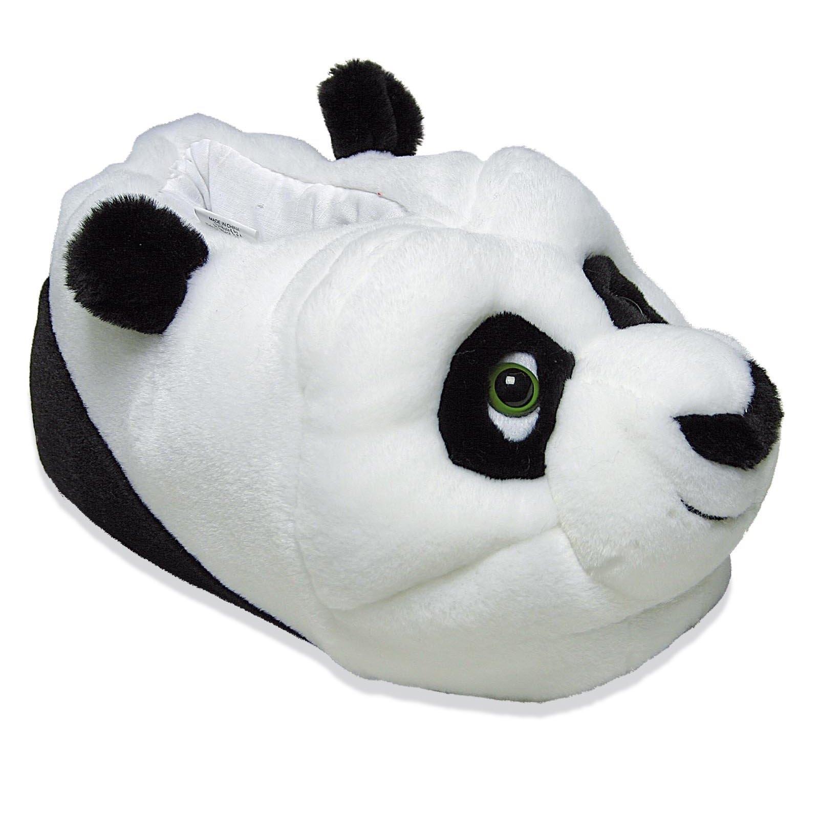 DISNEY KUNG FU PANDA Po Tier Hausschuhe Pantoffel Schlappen Kinder Weiß 29-35